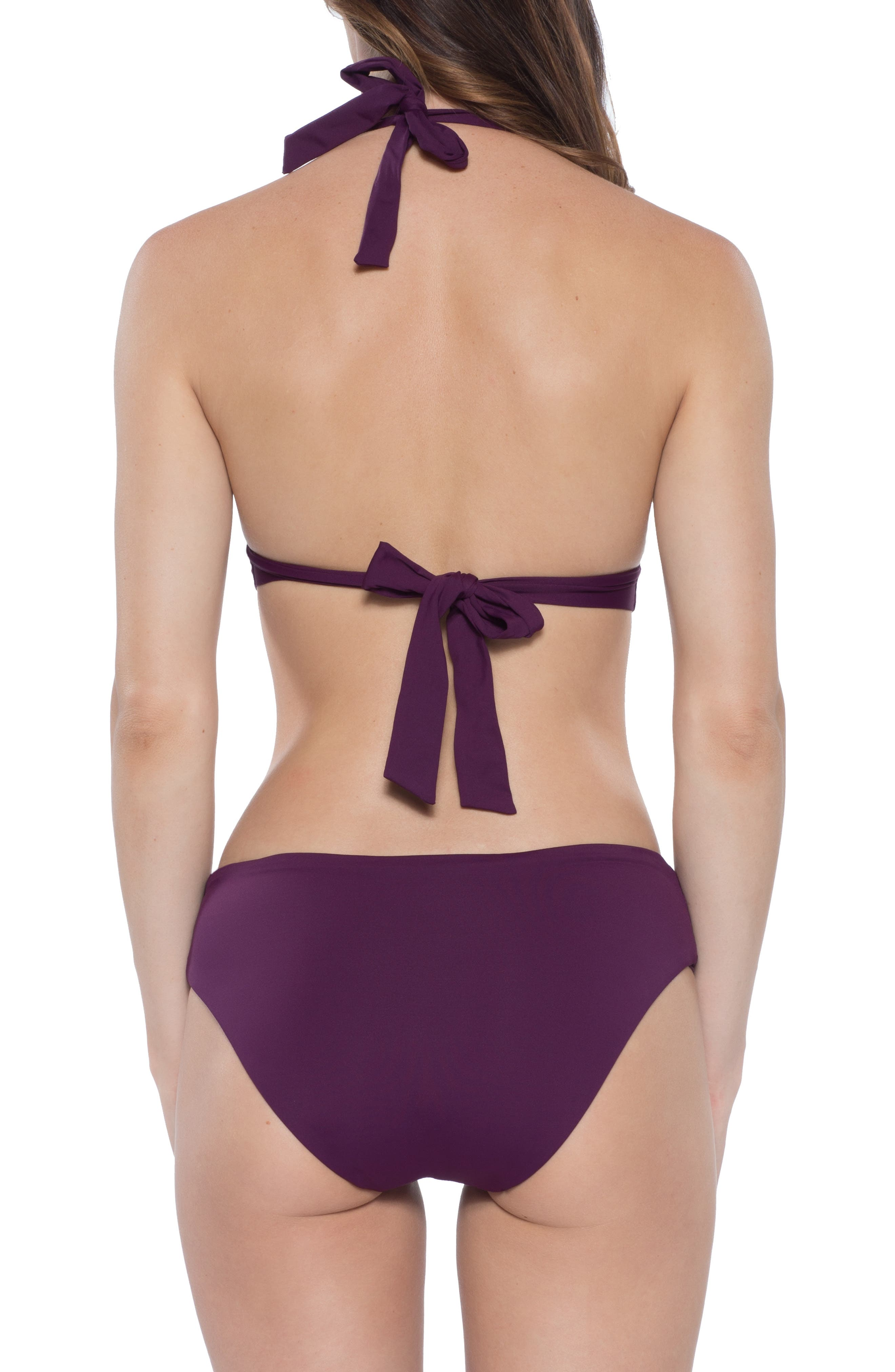 Reconnect Halter Bikini Top,                             Alternate thumbnail 8, color,                             MERLOT