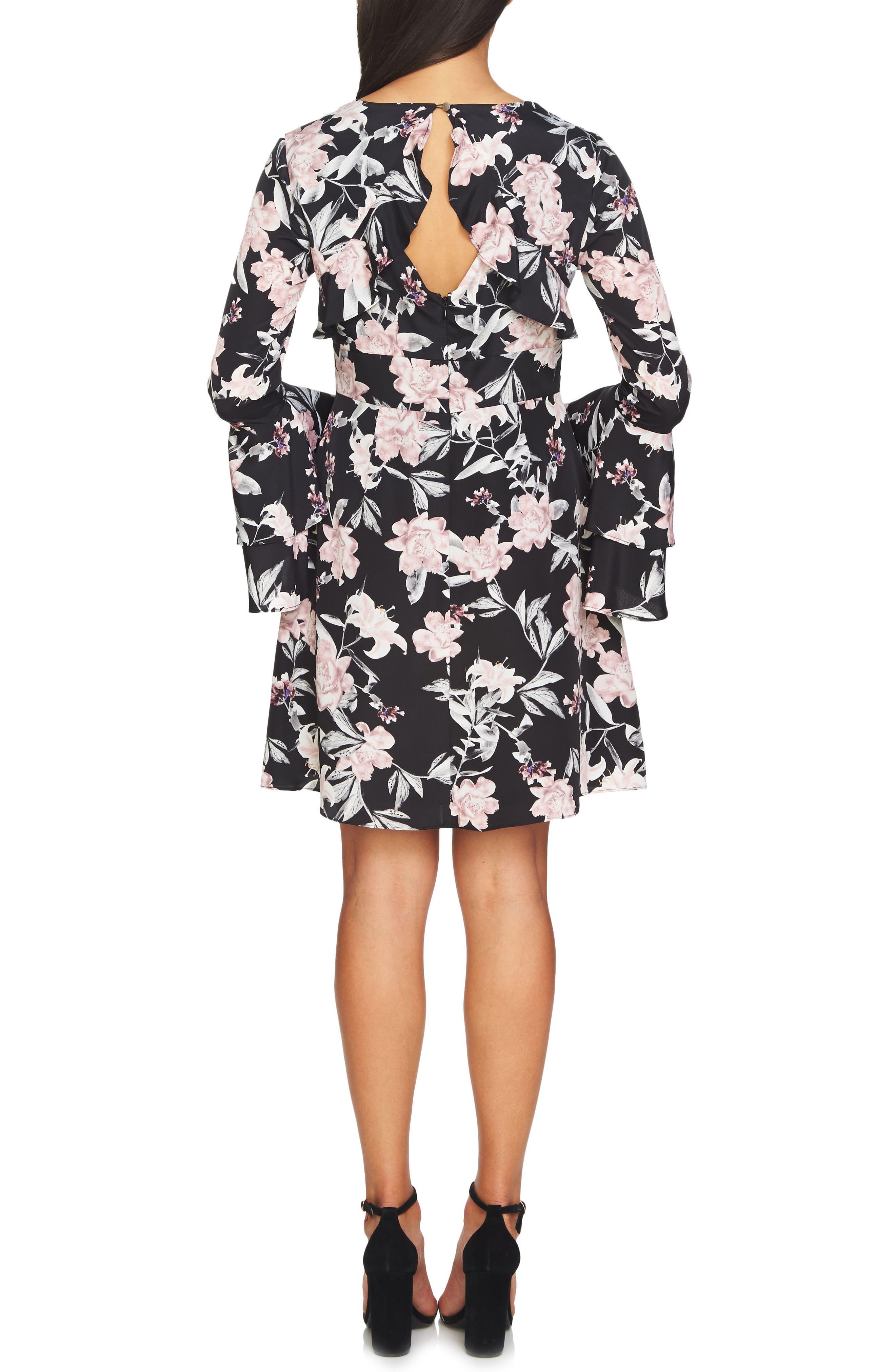 Eden Bell Sleeve Dress,                             Alternate thumbnail 2, color,