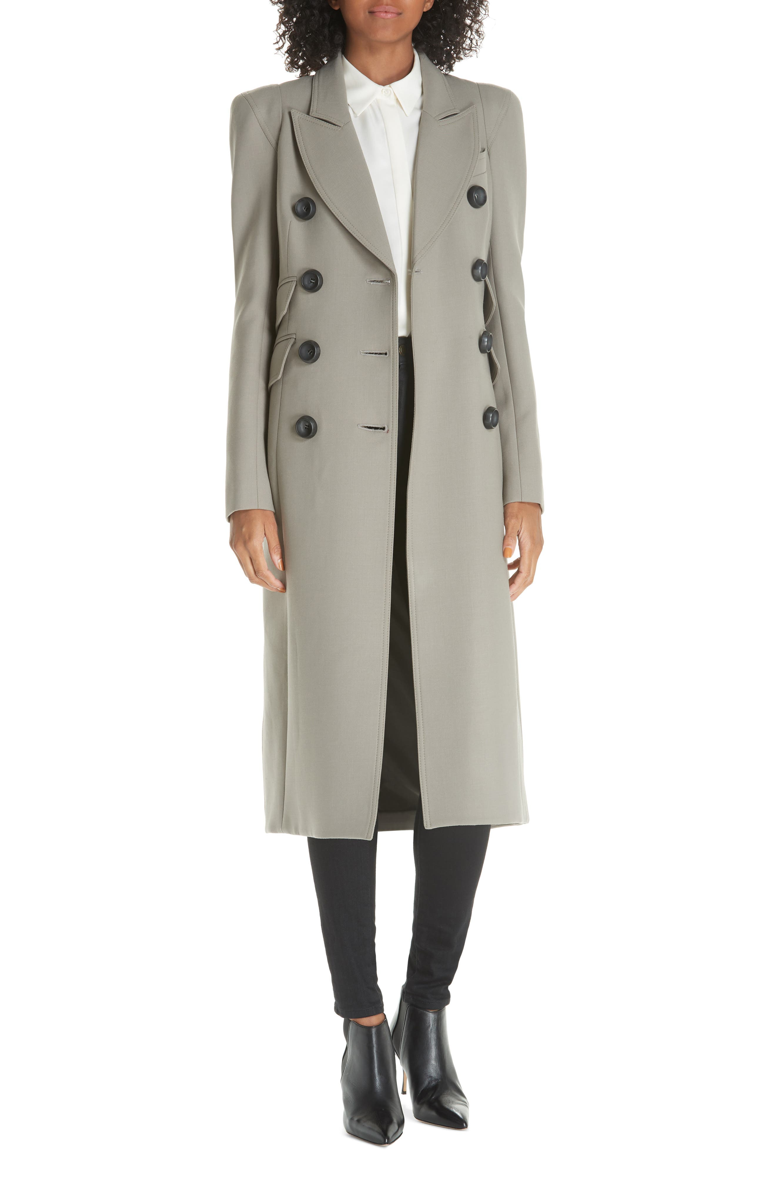 SMYTHE Pagoda Double Breasted Coat, Main, color, 250