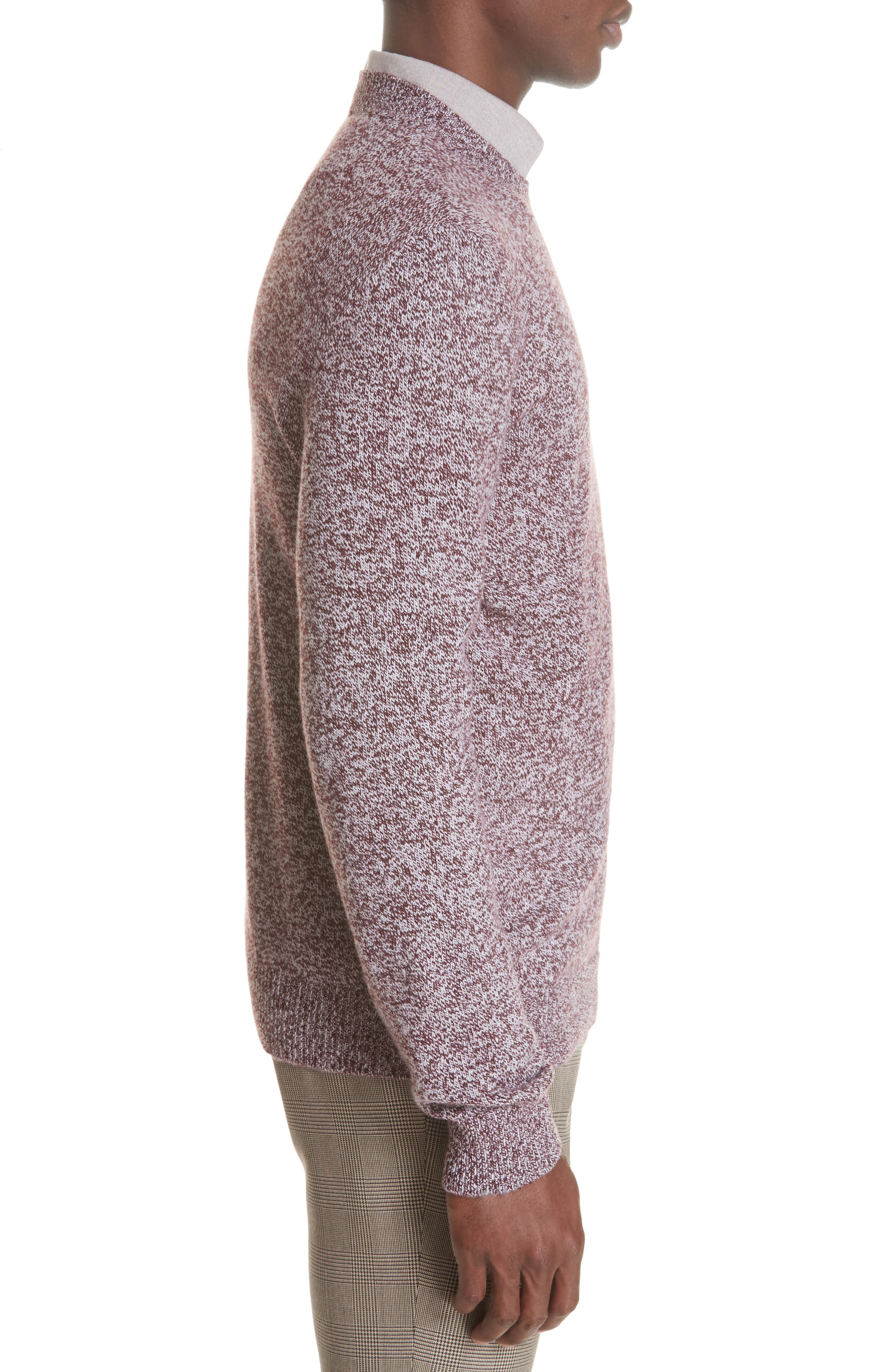 Marble Wool Sweater,                             Alternate thumbnail 3, color,                             602