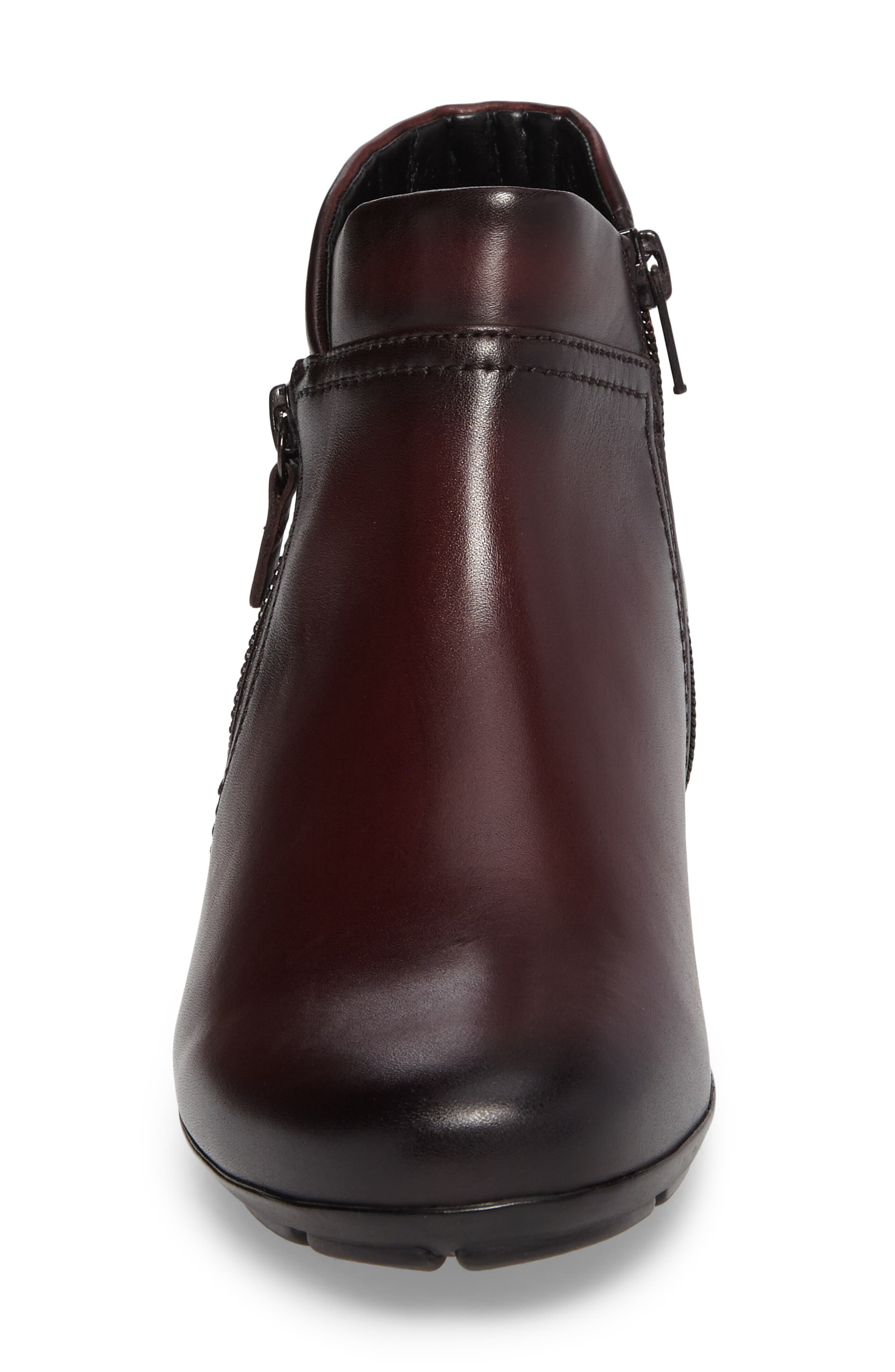 Classic Ankle Boot,                             Alternate thumbnail 4, color,                             WINE LEATHER