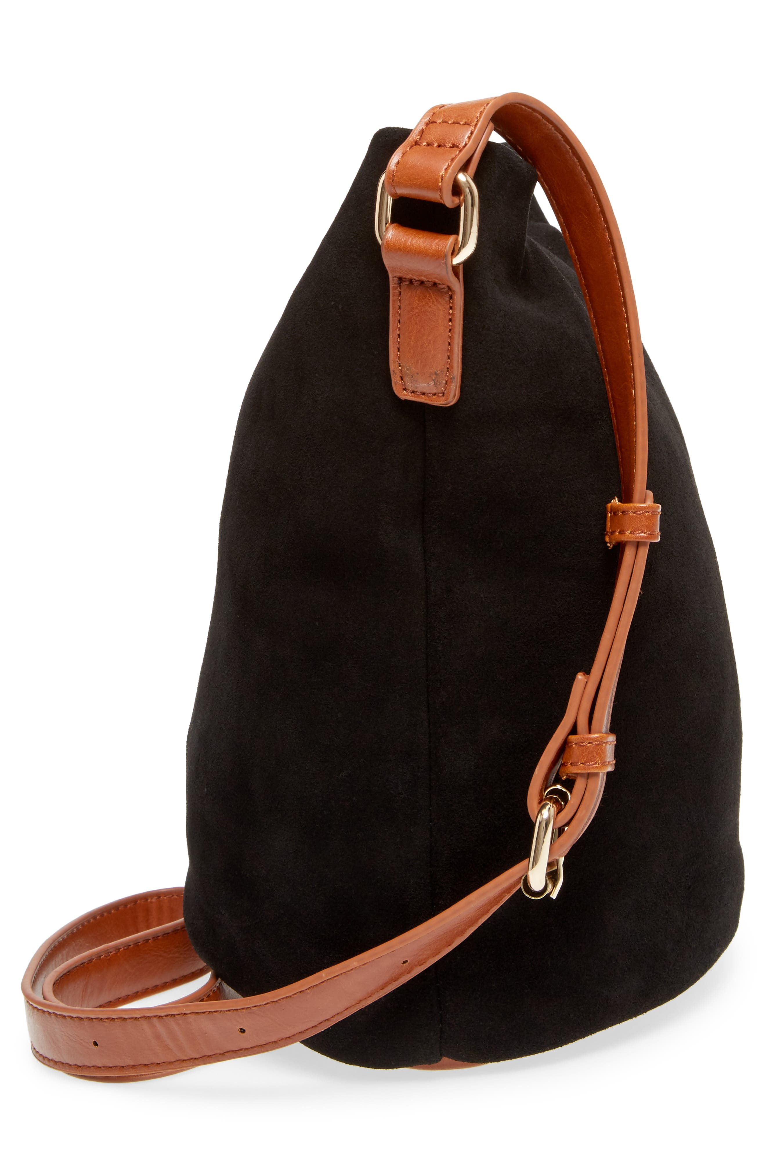 Lana Slouchy Suede Crossbody Bag,                             Alternate thumbnail 5, color,                             200