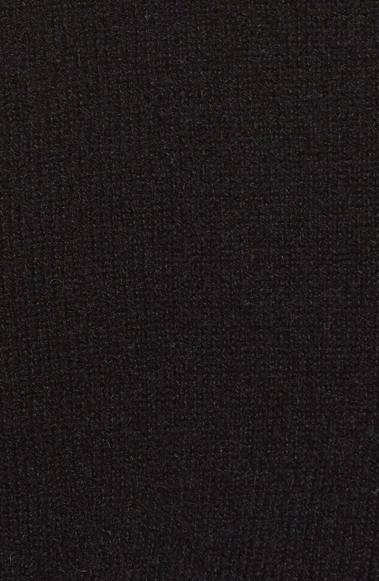 Cashmere Slim Pullover,                             Alternate thumbnail 5, color,                             001