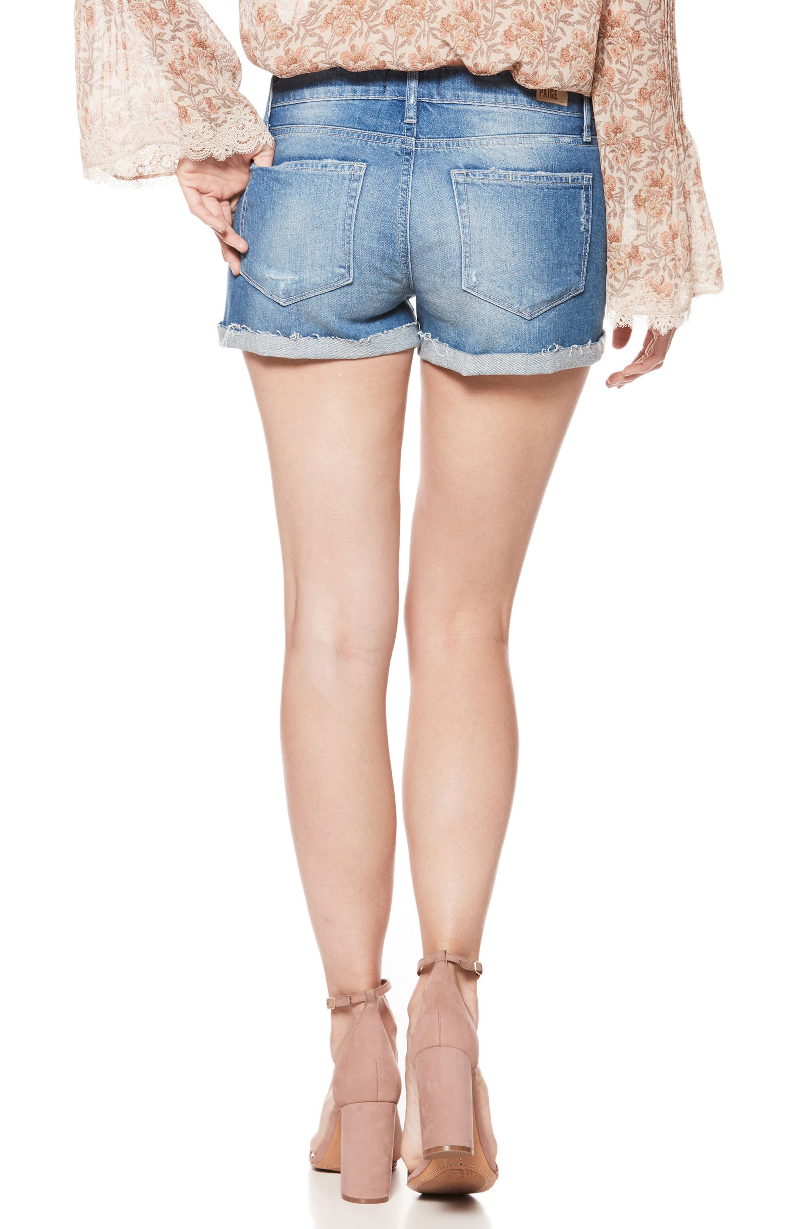 Jimmy Jimmy Cutoff Denim Shorts,                             Alternate thumbnail 2, color,                             FINNICK DESTRUCTED