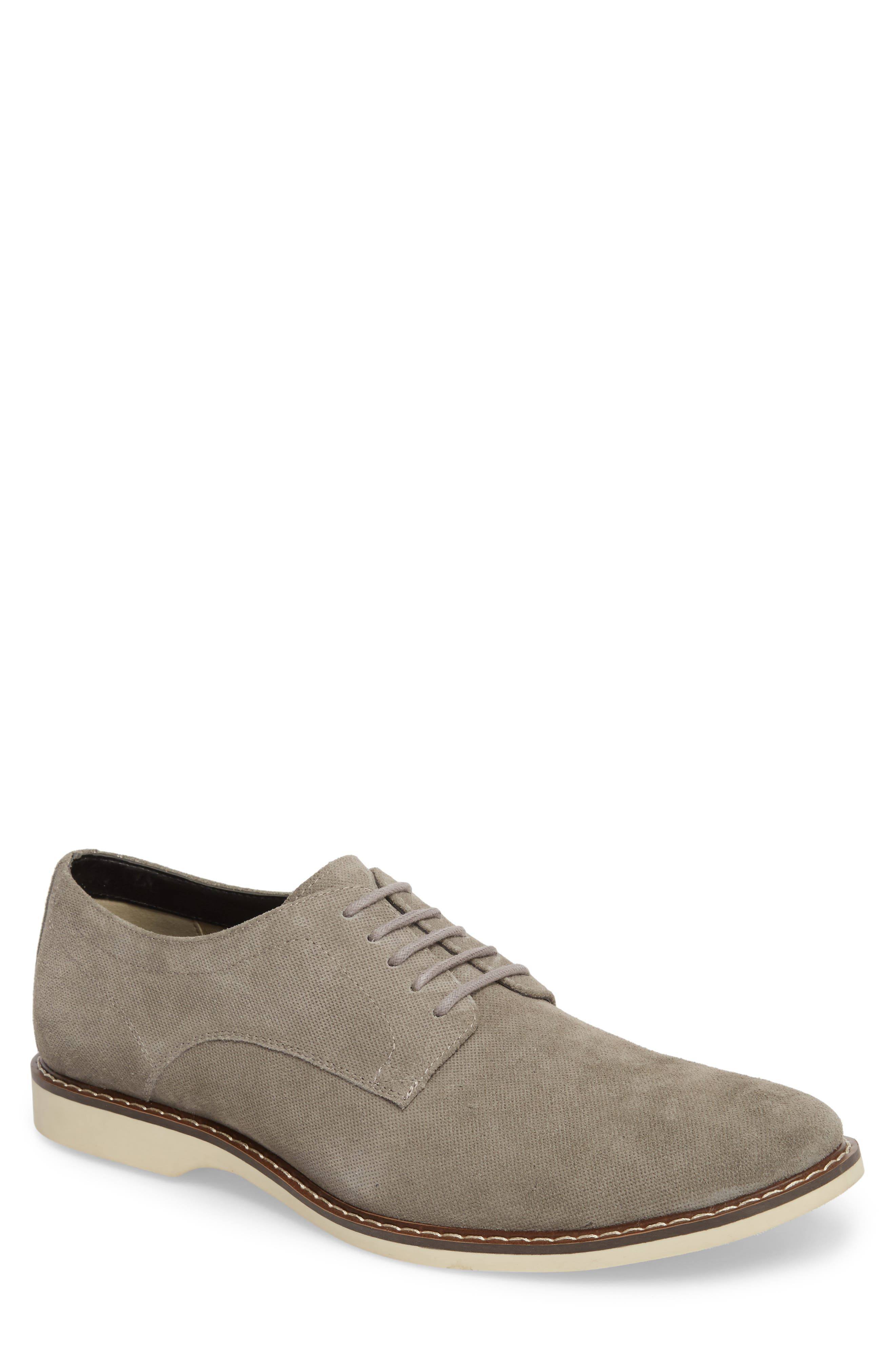 Georgetown Textured Derby,                             Main thumbnail 1, color,                             GREY SUEDE