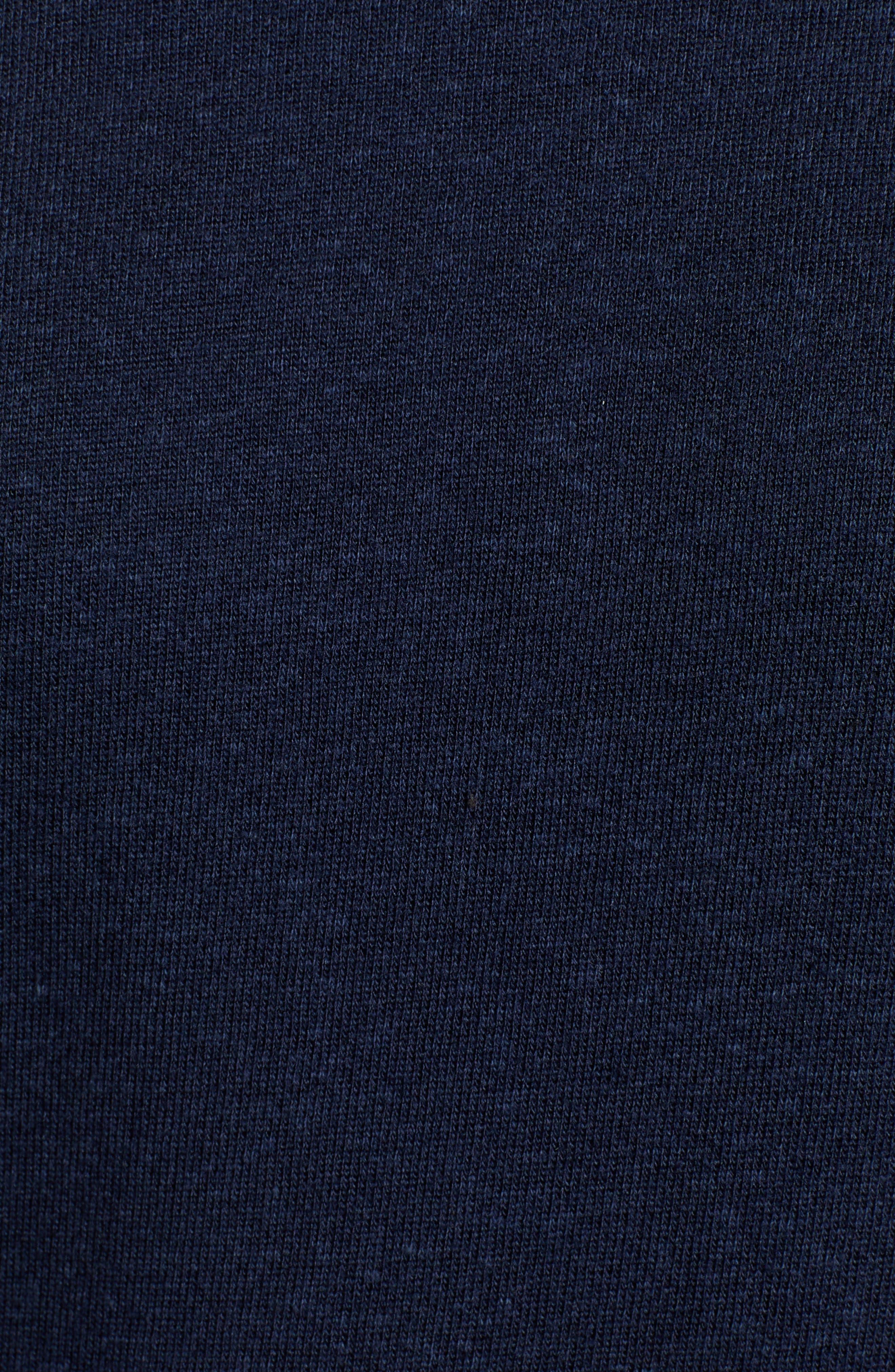 Midnight Stripe Cuff Cotton Blend Sweatshirt,                             Alternate thumbnail 5, color,                             415