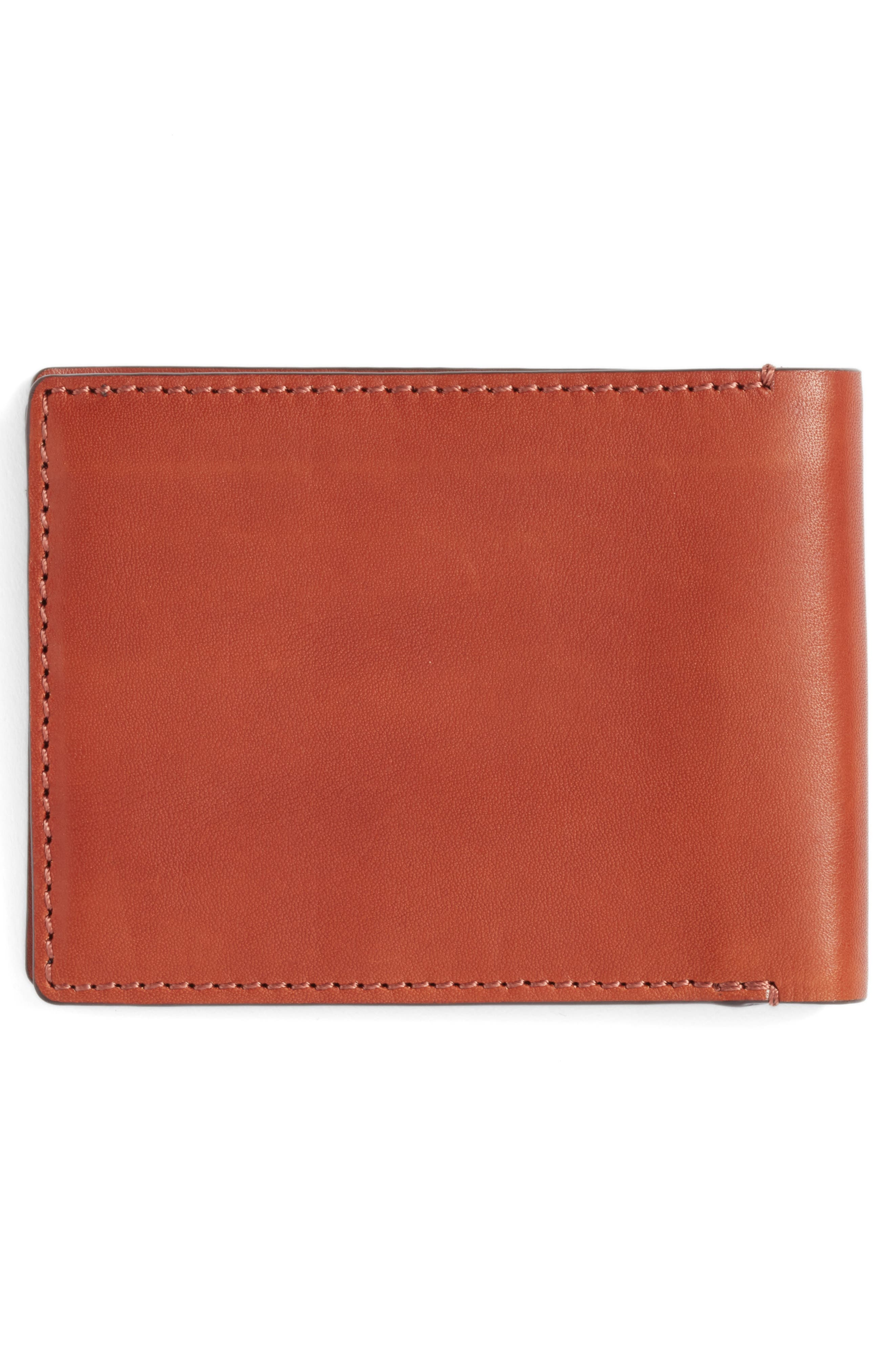 Bifold Leather Wallet with Pass Case,                             Alternate thumbnail 6, color,