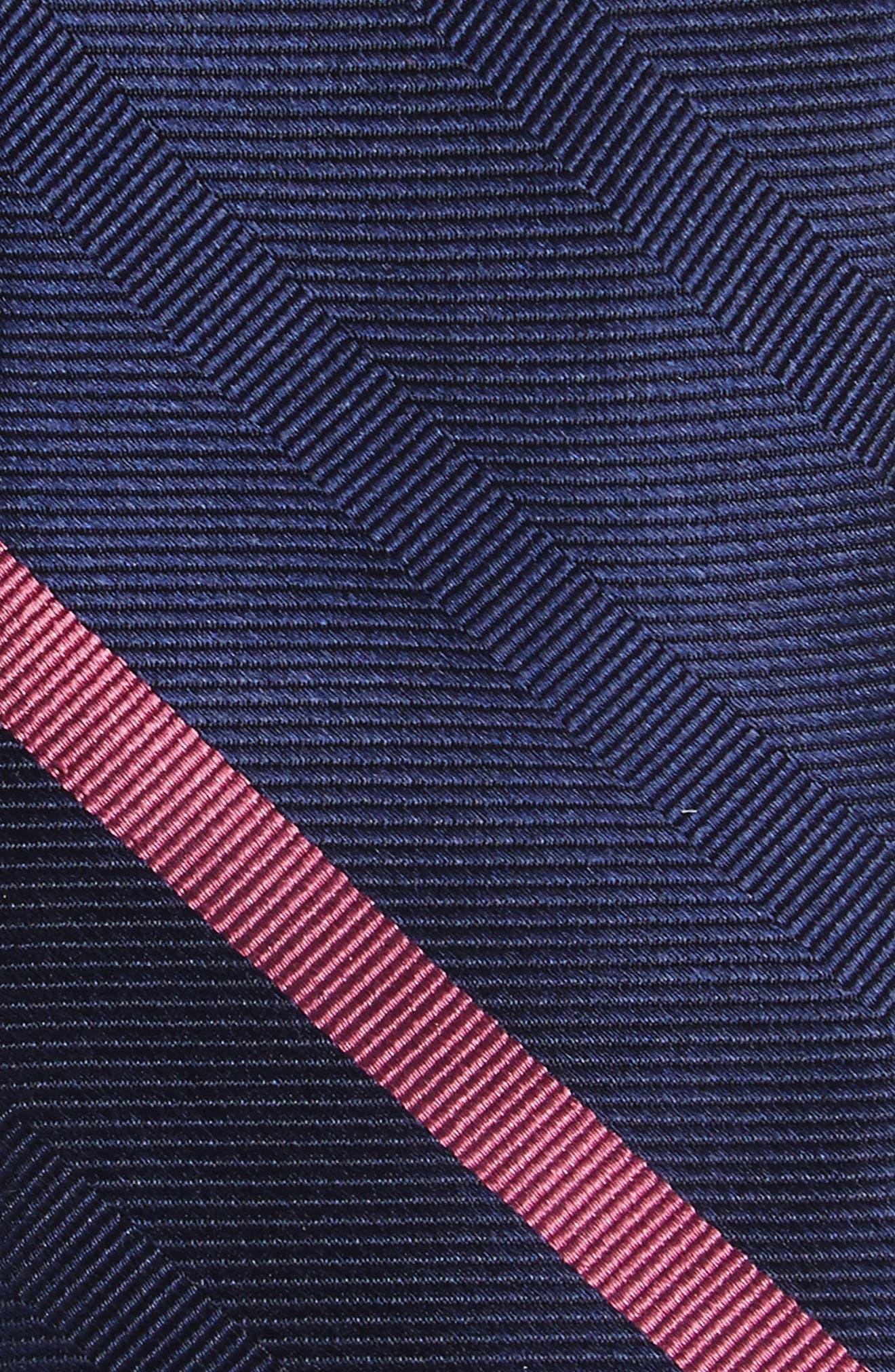 Goal Line Stripe Silk Skinny Tie,                             Alternate thumbnail 2, color,                             410