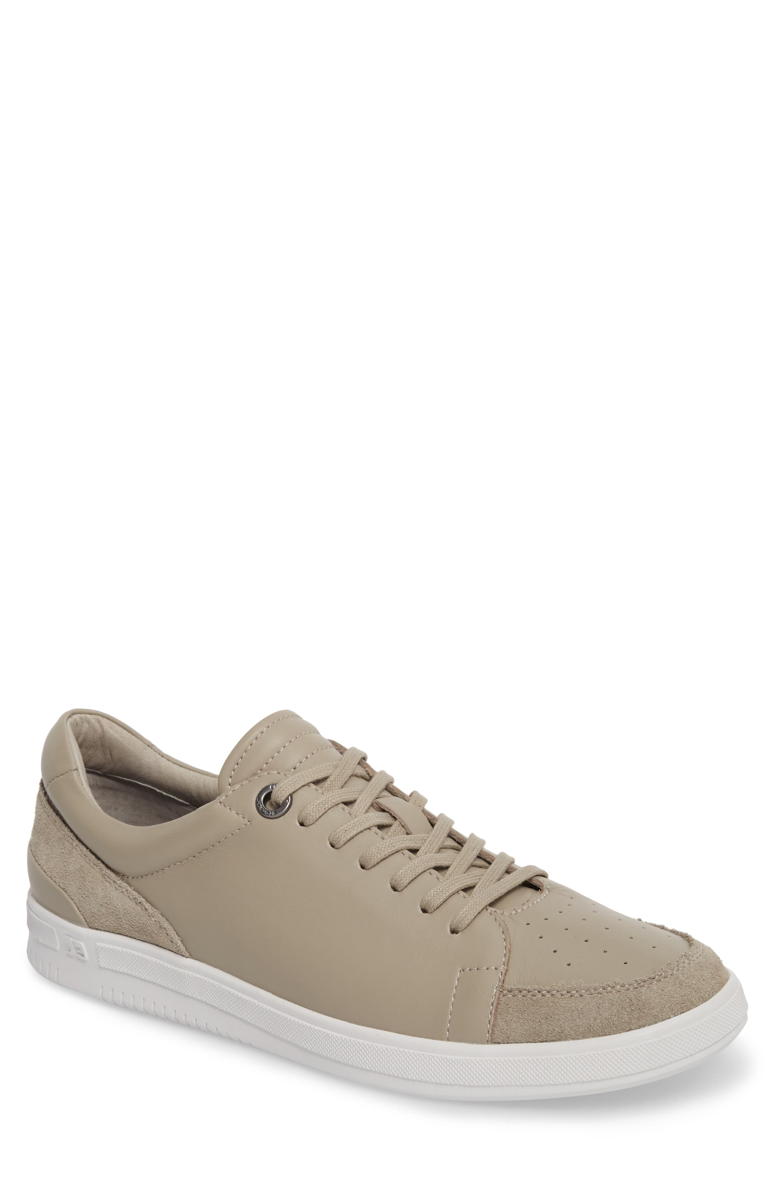 Joe Classic Low Top Sneaker,                             Main thumbnail 1, color,                             STONE LEATHER