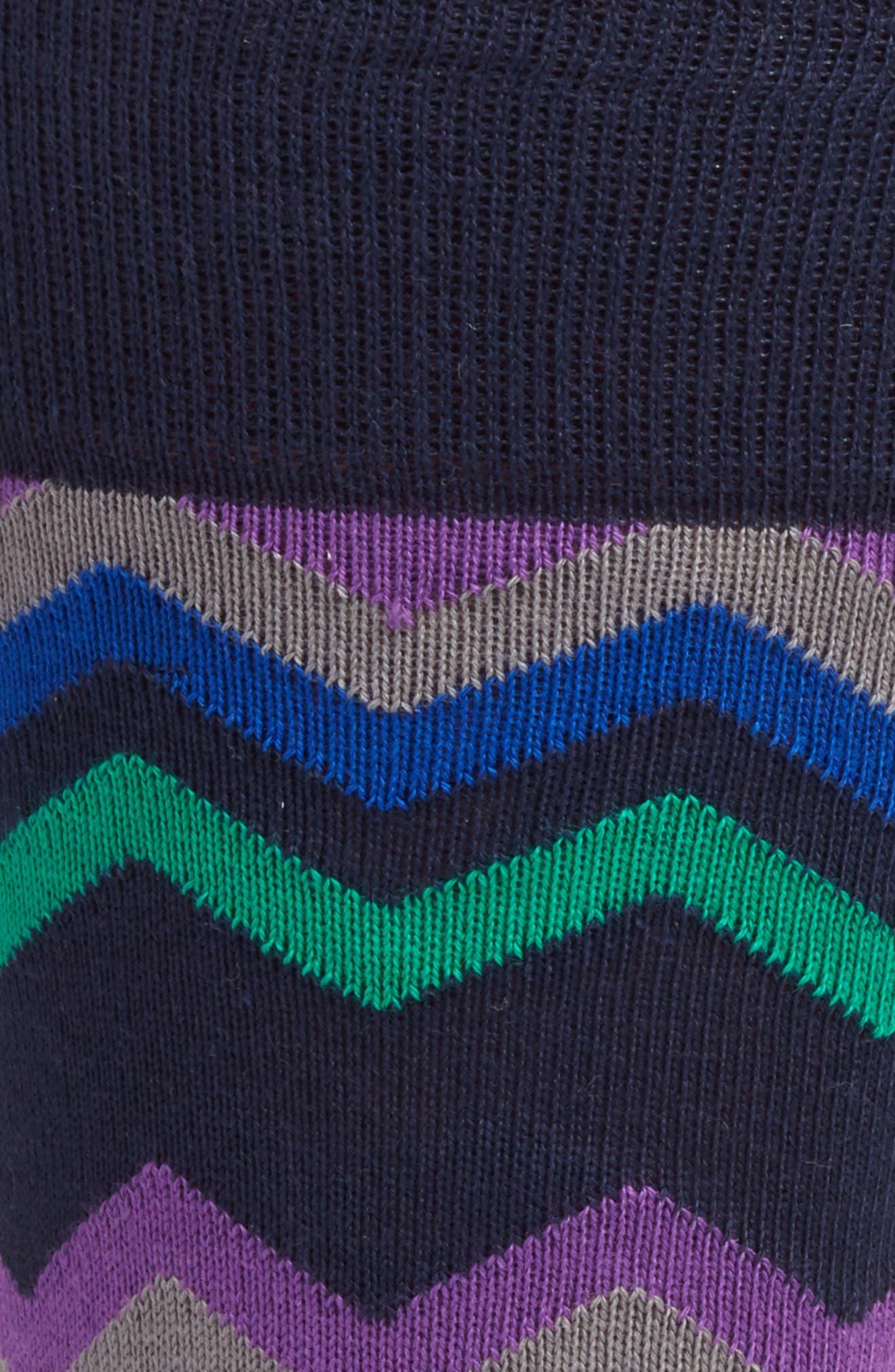 Fleet Chevron Socks,                             Alternate thumbnail 5, color,