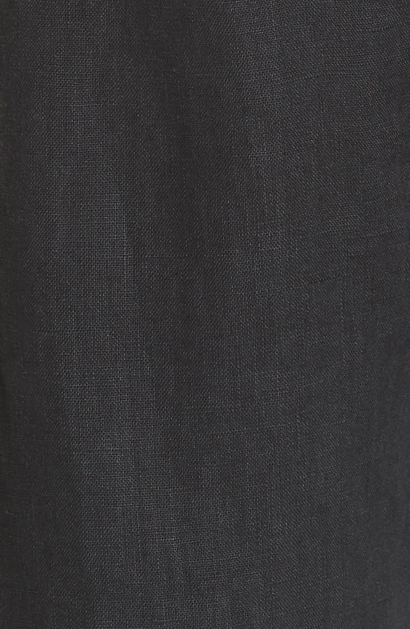 Erlette Linen Tie Cuff Crop Pants,                             Alternate thumbnail 9, color,