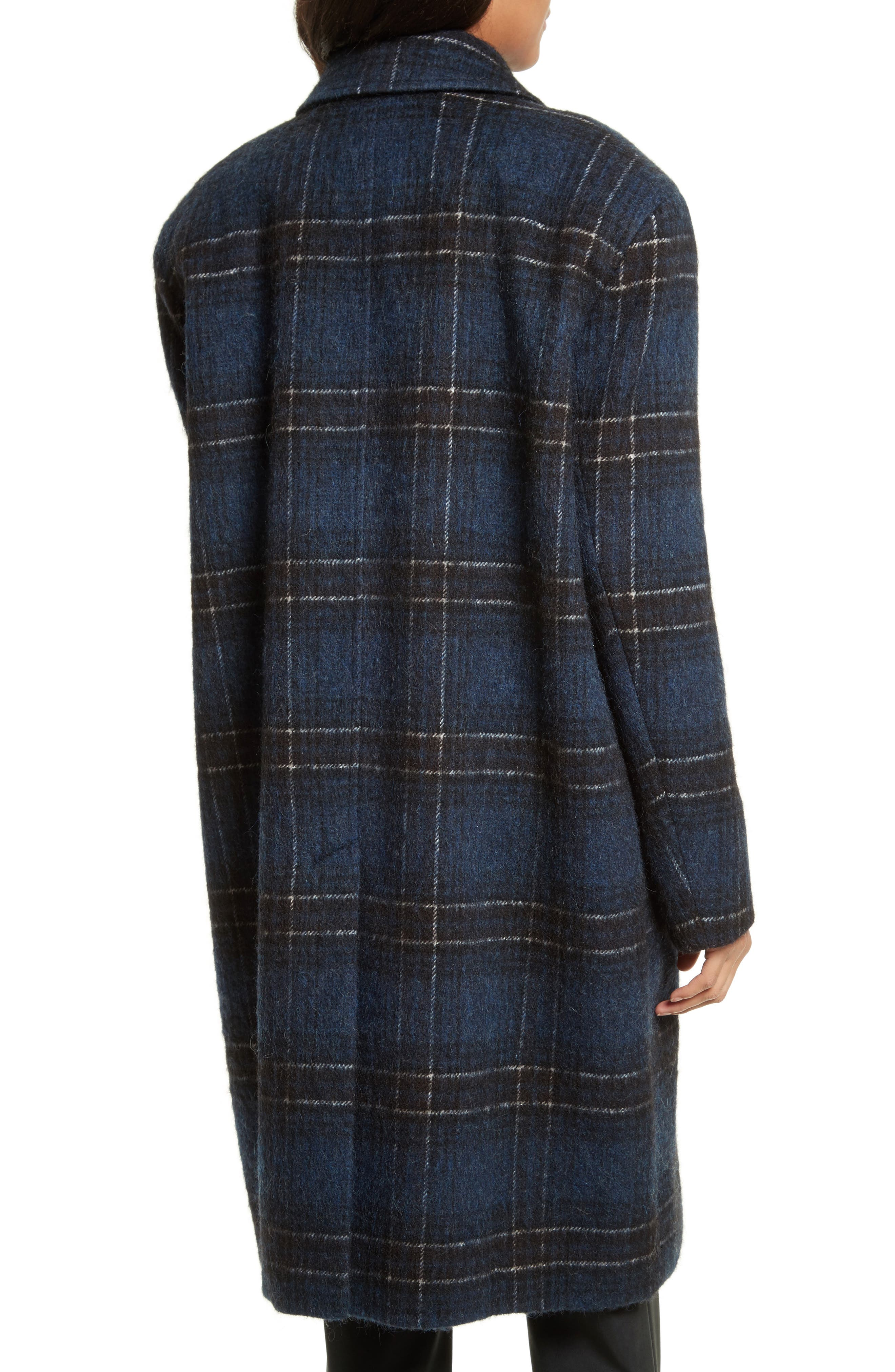 Dominic Plaid Oversize Coat,                             Alternate thumbnail 2, color,                             402
