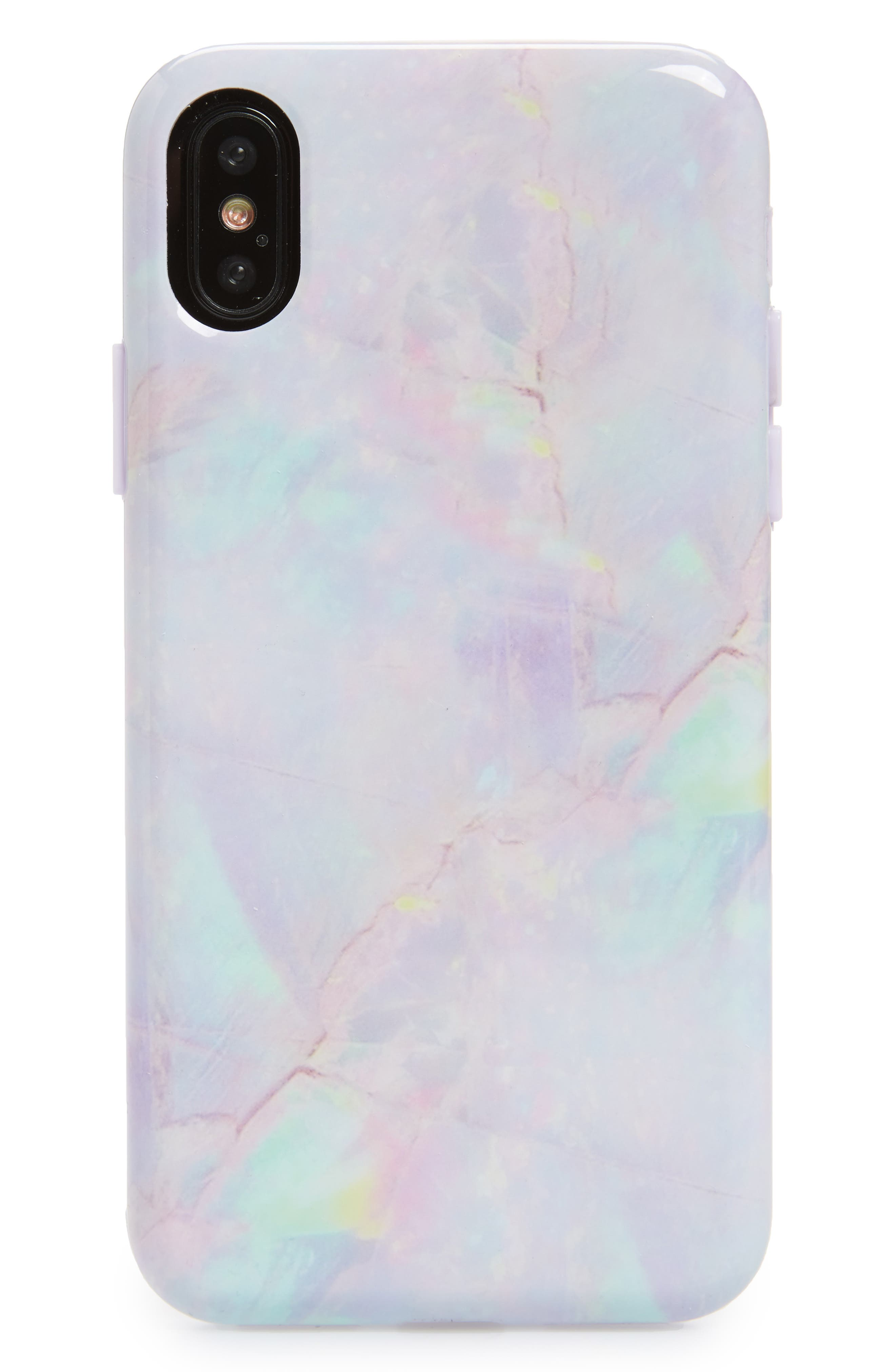 VELVET CAVIAR Cotton Candy Marble iPhone X Case, Main, color, 650