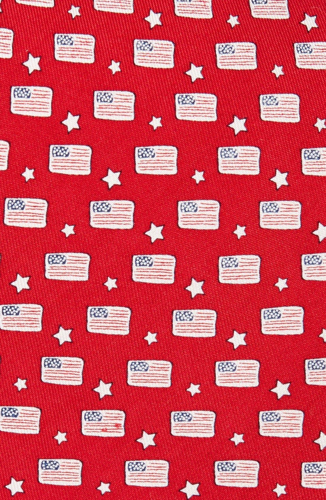 Flag Print Tie,                             Alternate thumbnail 4, color,