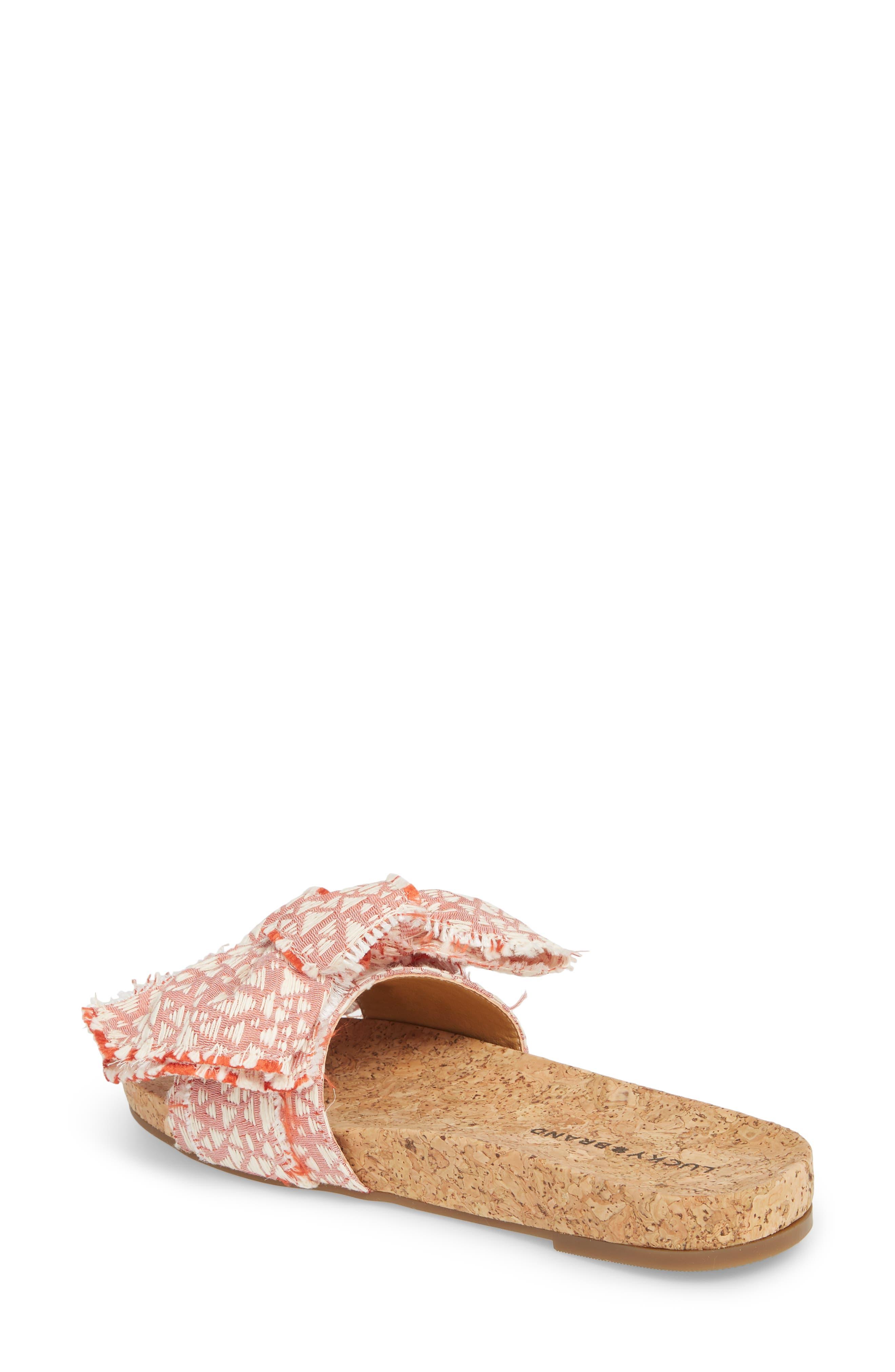 Floella Bow Slide Sandal,                             Alternate thumbnail 6, color,