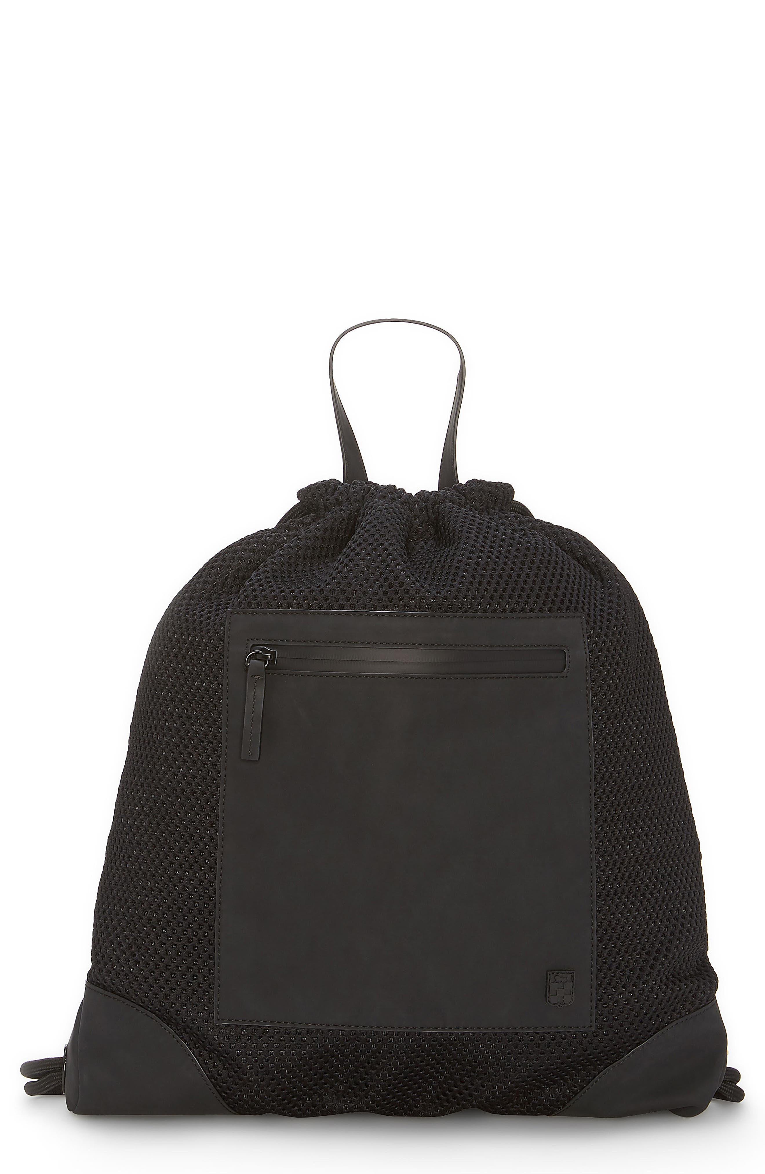 Urban Mesh Backpack,                         Main,                         color, BLACK
