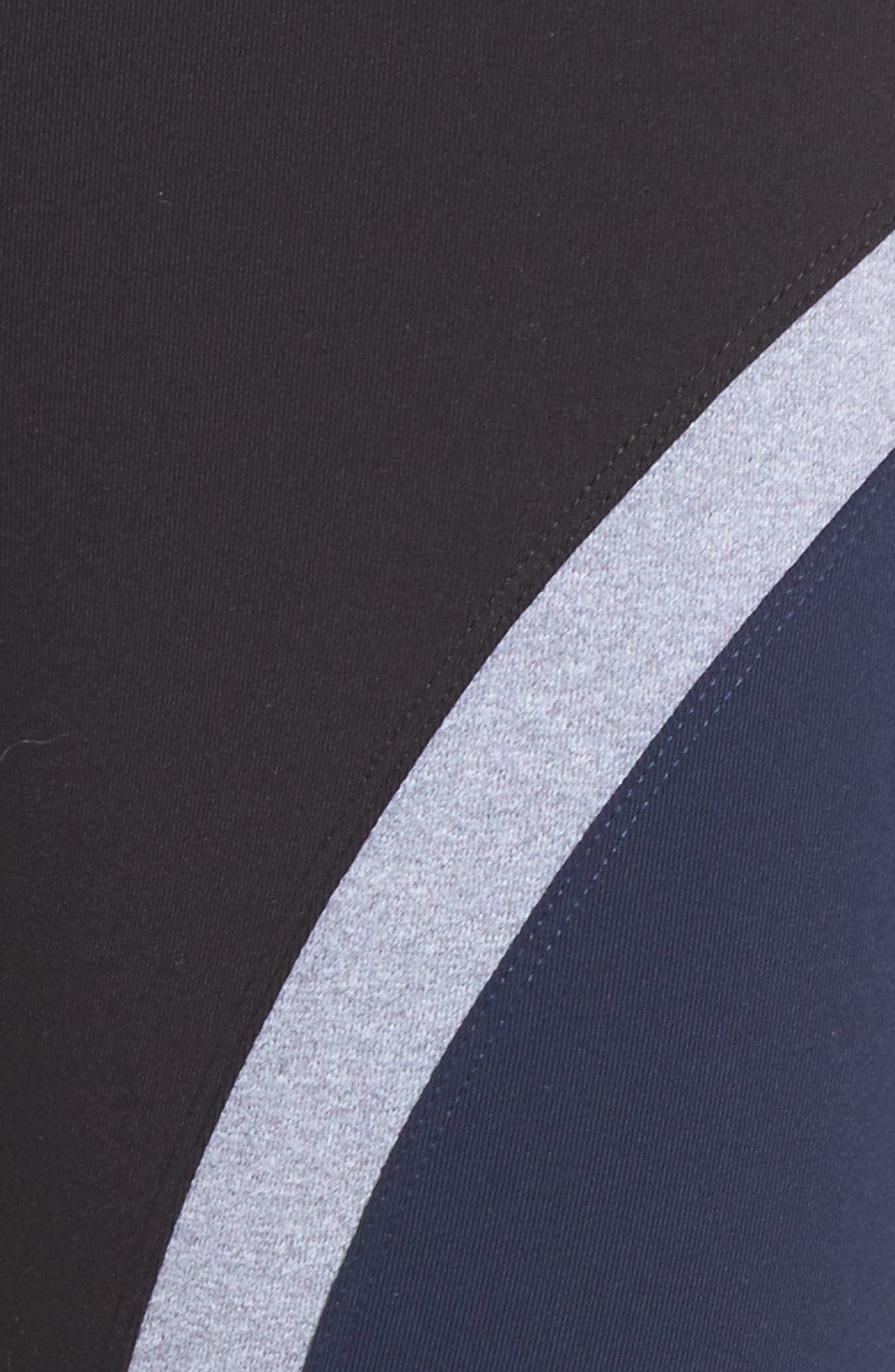 High Waist Capri Leggings,                             Alternate thumbnail 6, color,