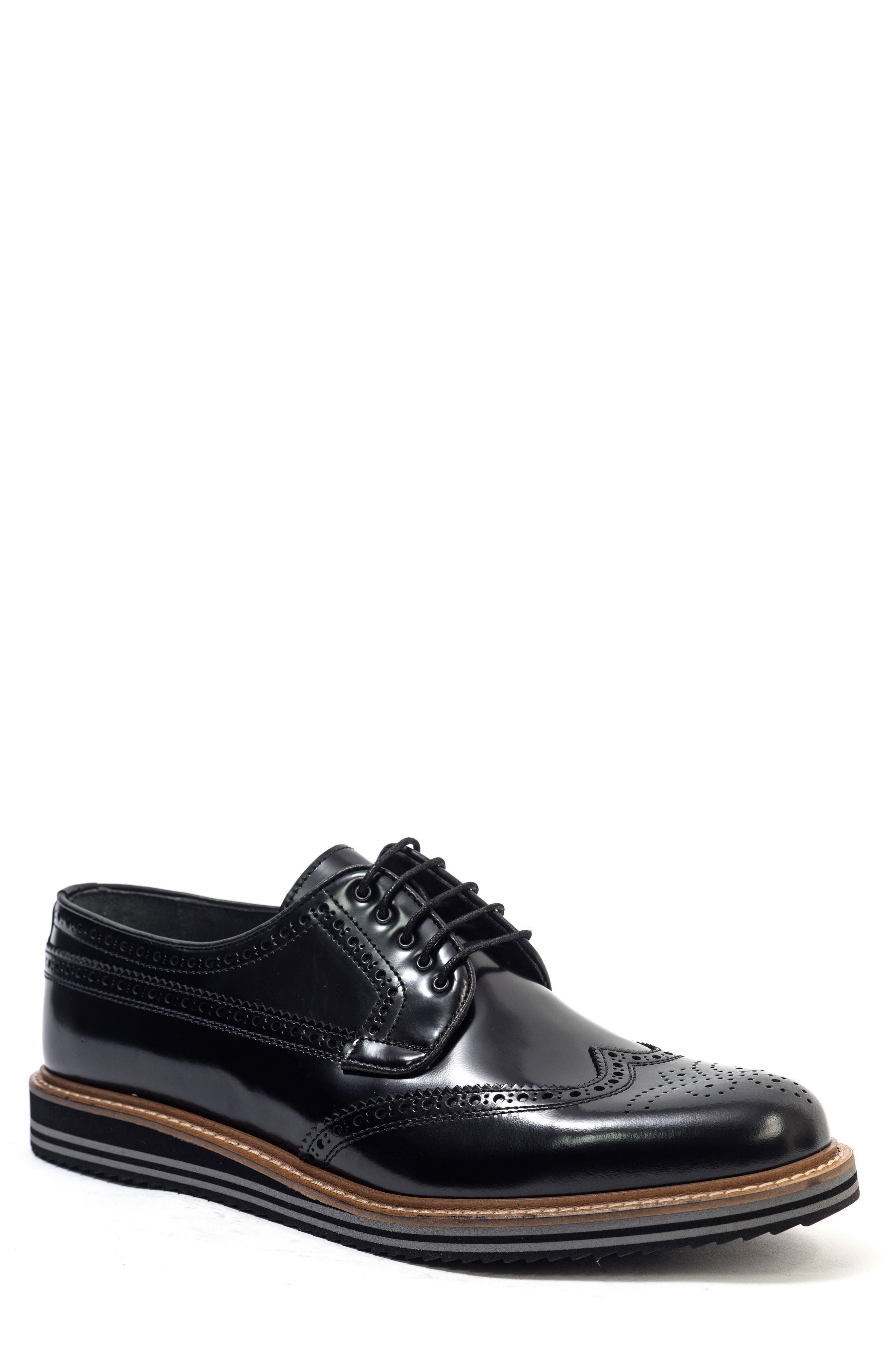 Doc Sandwich Sole Wingtip Oxford,                             Main thumbnail 1, color,                             001