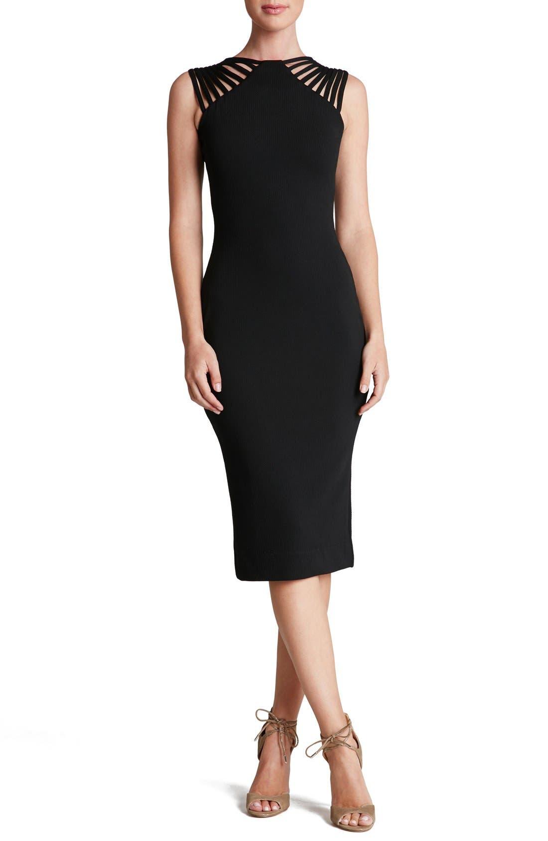 Gwen Midi Dress,                         Main,                         color, 001