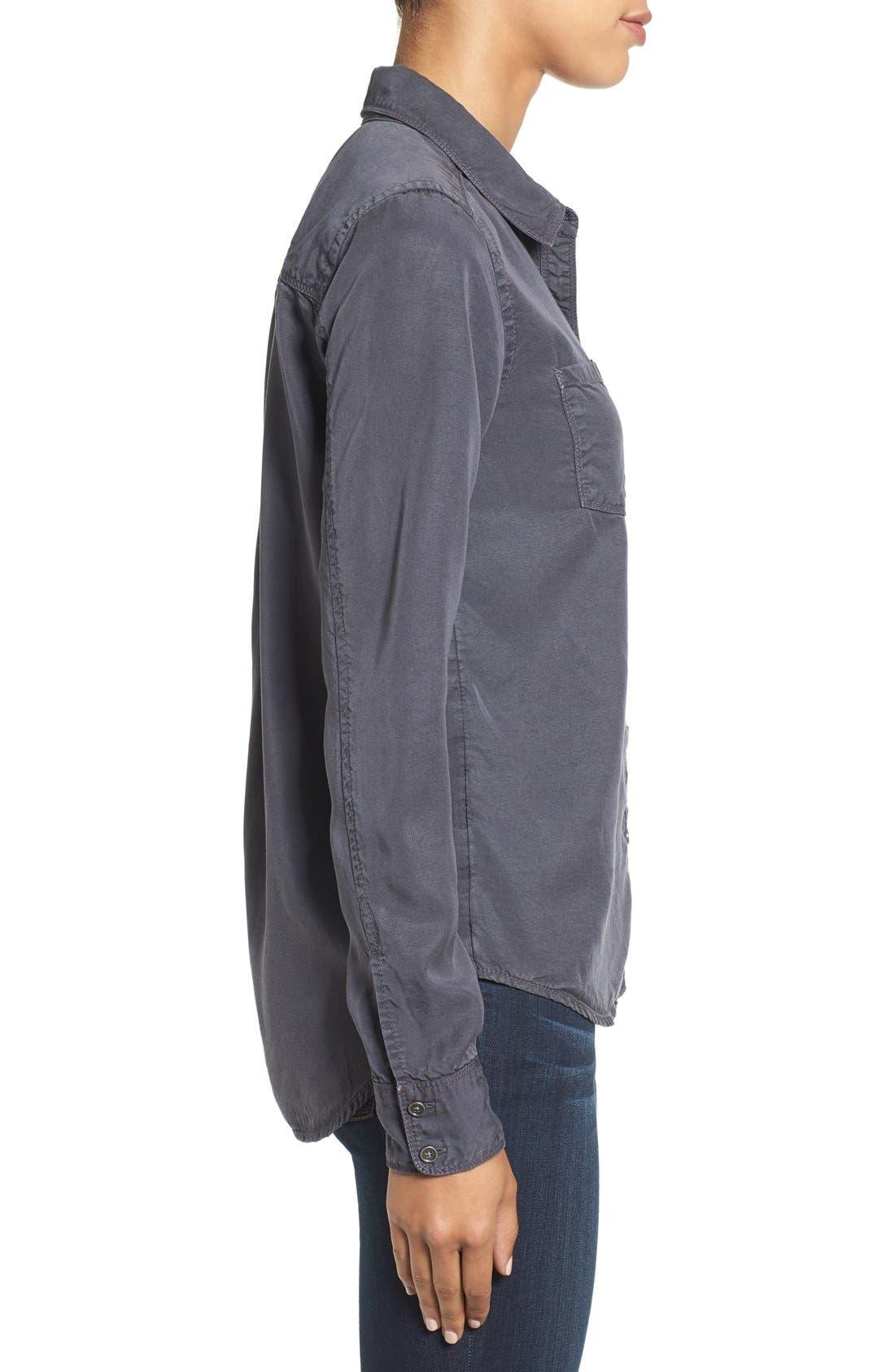 CASLON<SUP>®</SUP>,                             Long Sleeve Denim Shirt,                             Alternate thumbnail 3, color,                             030