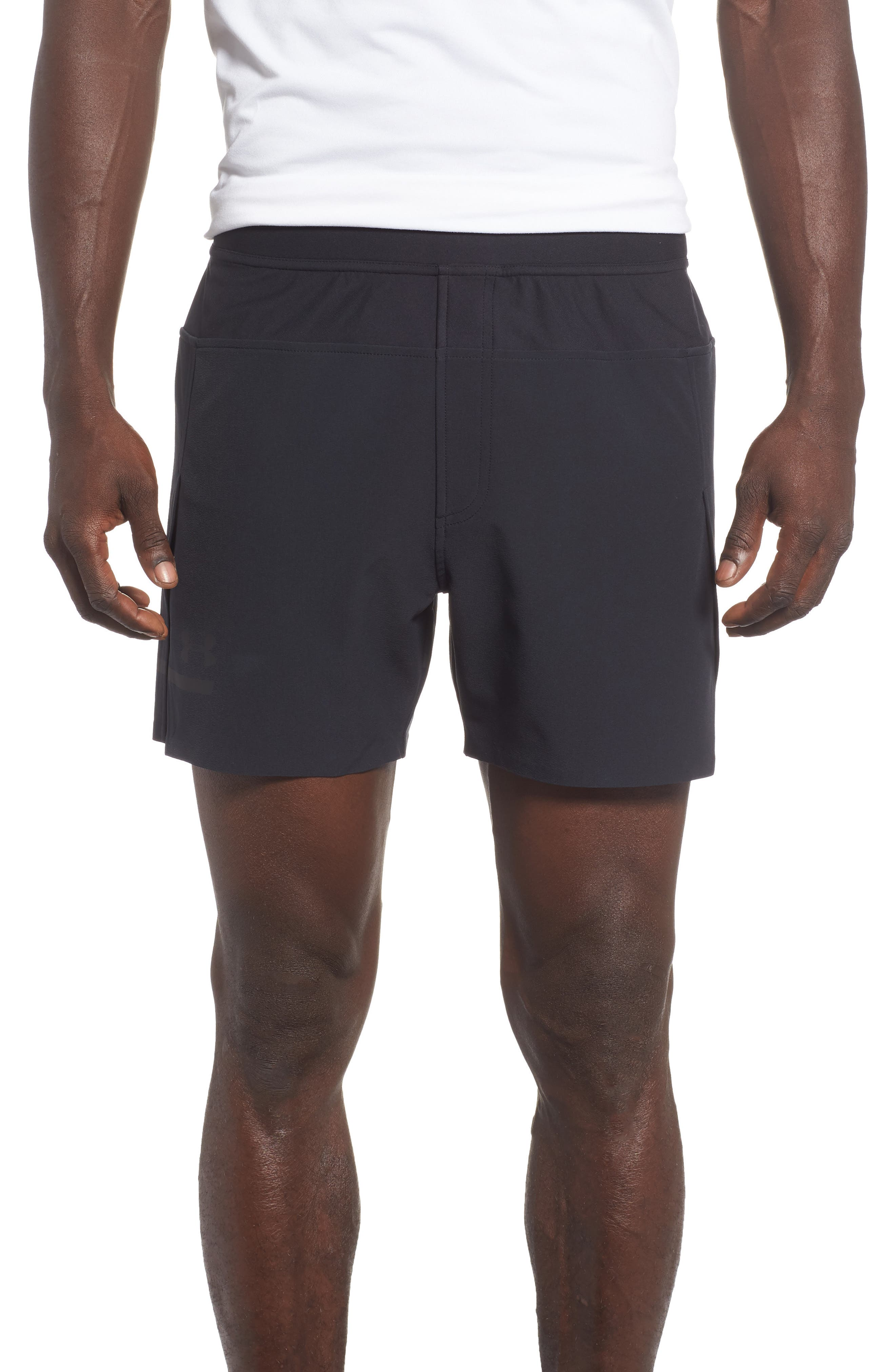 Perpetual Fitted Shorts,                             Main thumbnail 1, color,                             BLACK