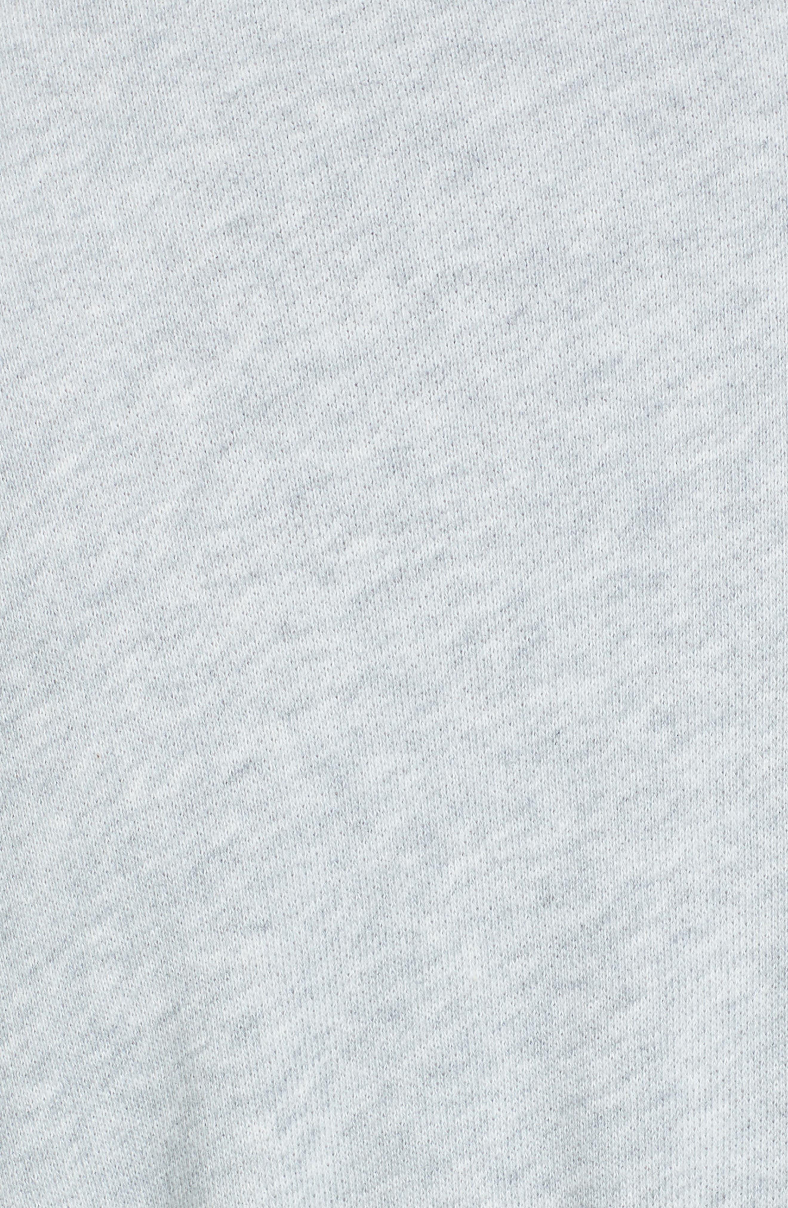 CASLON<SUP>®</SUP>,                             Asymmetrical Drape Collar Terry Jacket,                             Alternate thumbnail 7, color,                             HEATHER LIGHT GREY