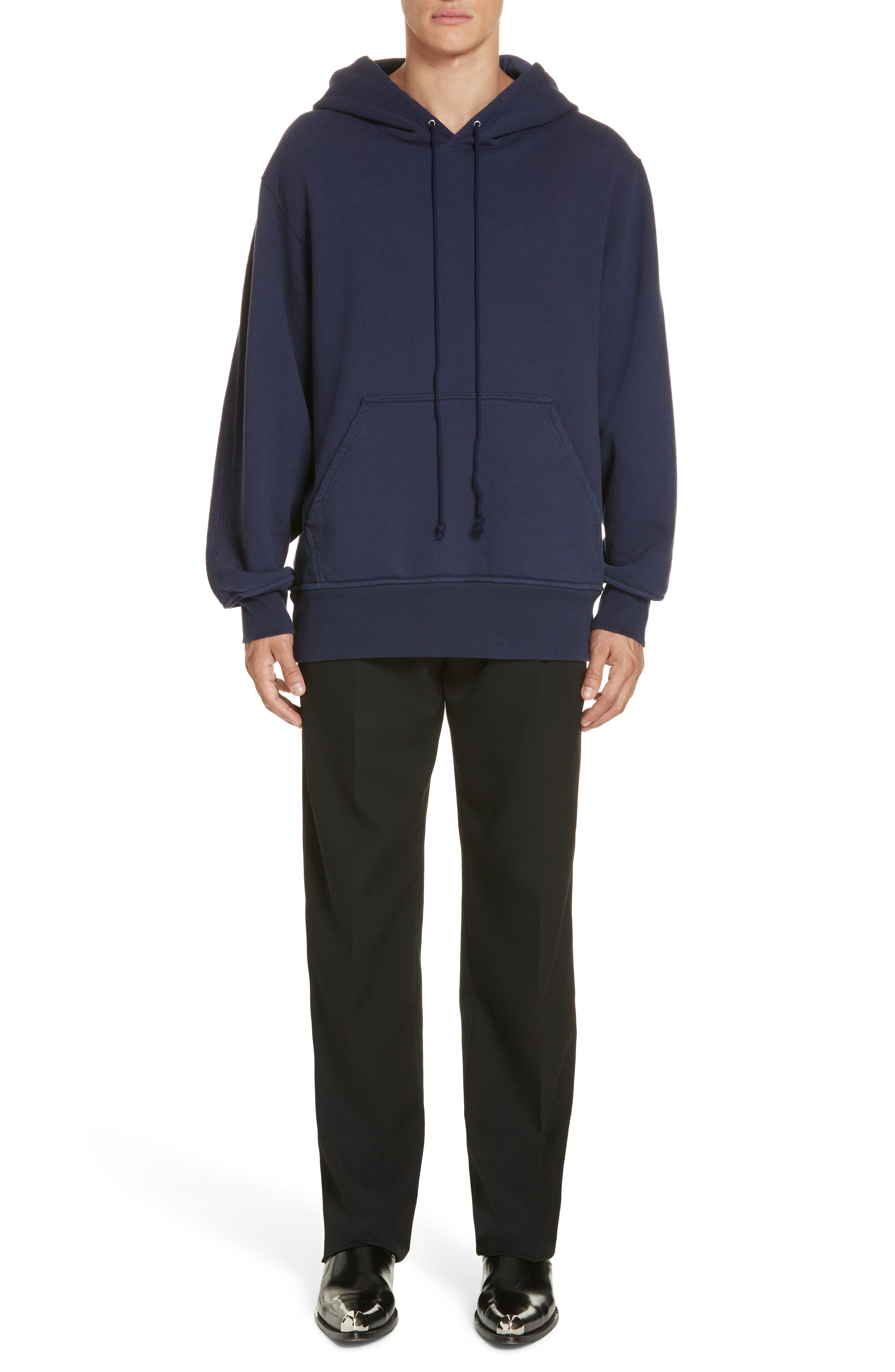 Oversize Hoodie,                             Alternate thumbnail 7, color,                             MARINE