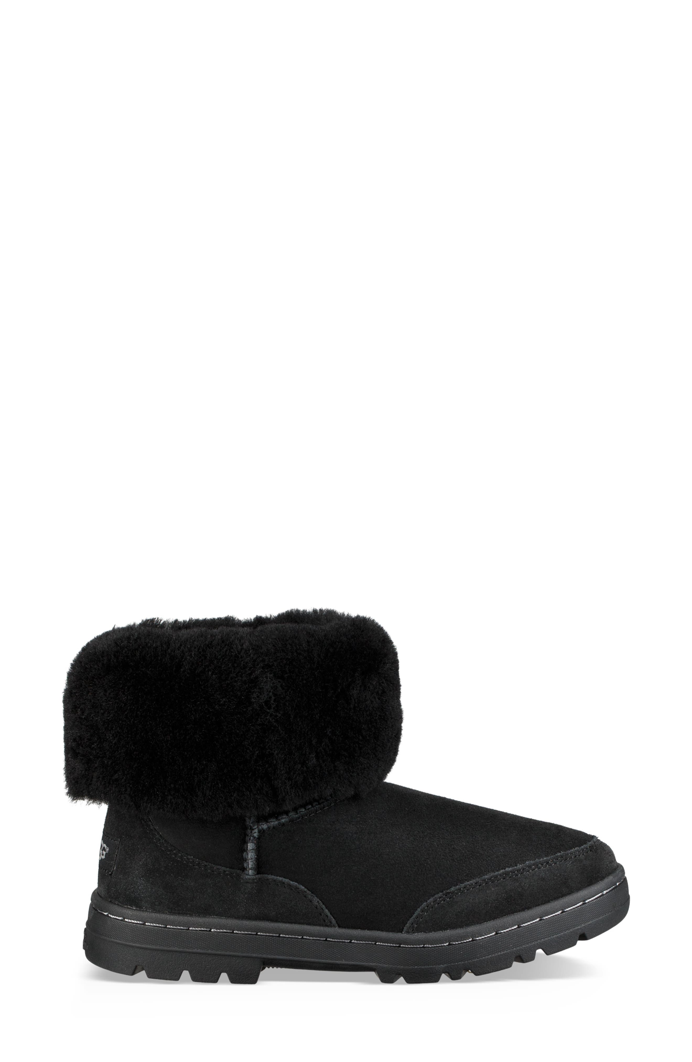 Ultra Revival Genuine Shearling Short Boot,                             Alternate thumbnail 8, color,                             BLACK