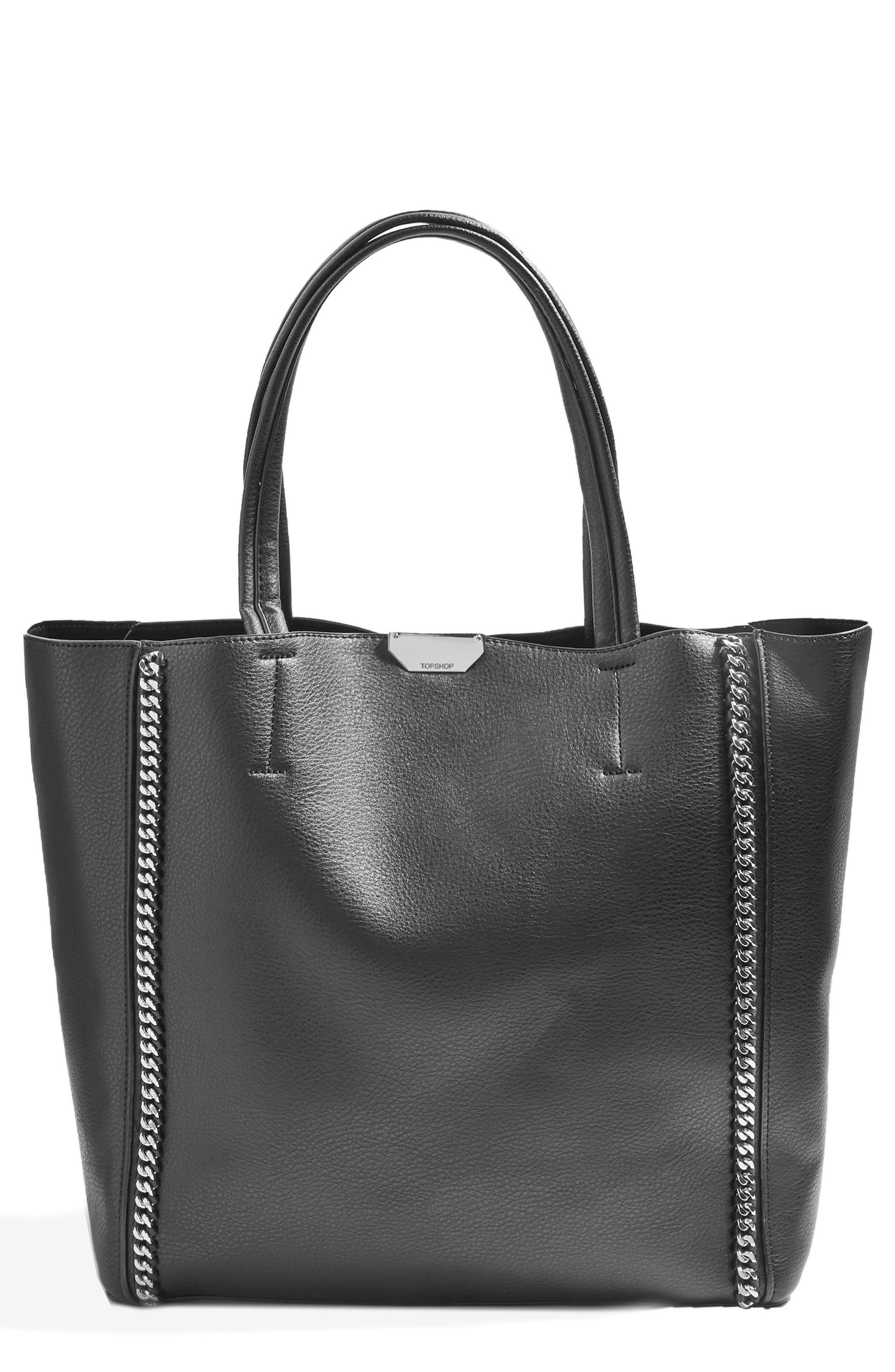 Sade Chain Shopper Bag,                             Main thumbnail 1, color,                             001