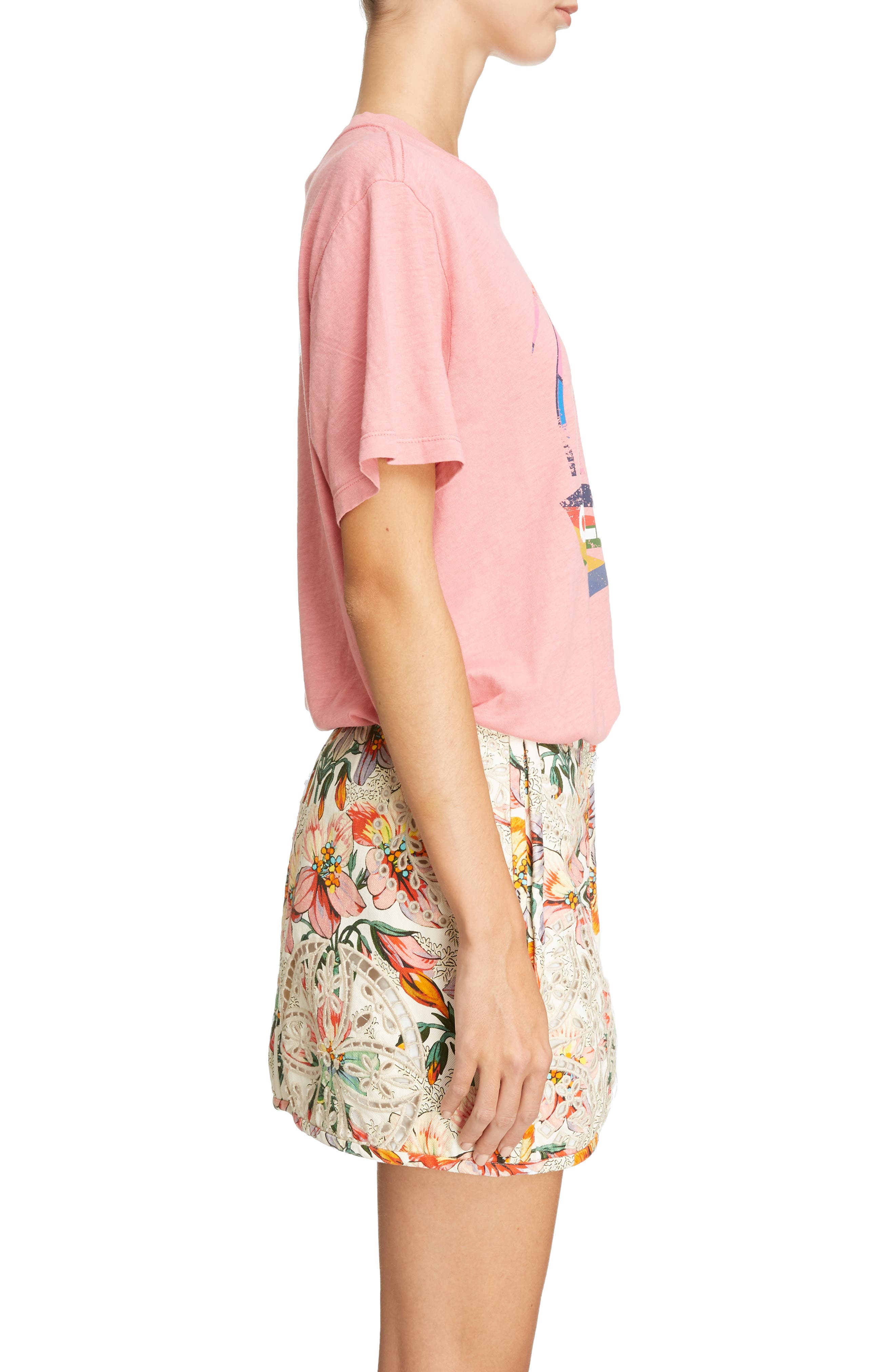 Surf California Tee,                             Alternate thumbnail 3, color,                             CANDY PINK