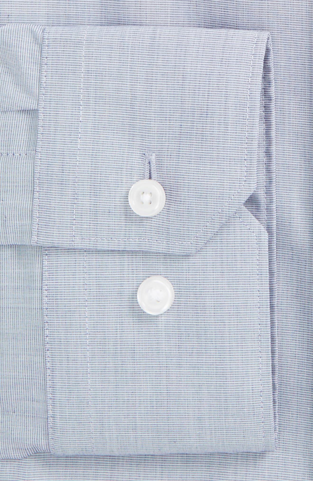 Extra Trim Fit Stretch No-Iron Dress Shirt,                             Alternate thumbnail 3, color,                             401
