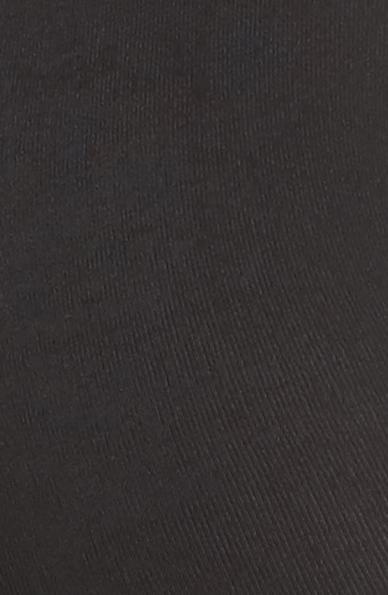 Fleece Lined Footless Tights,                             Alternate thumbnail 2, color,                             BLACK