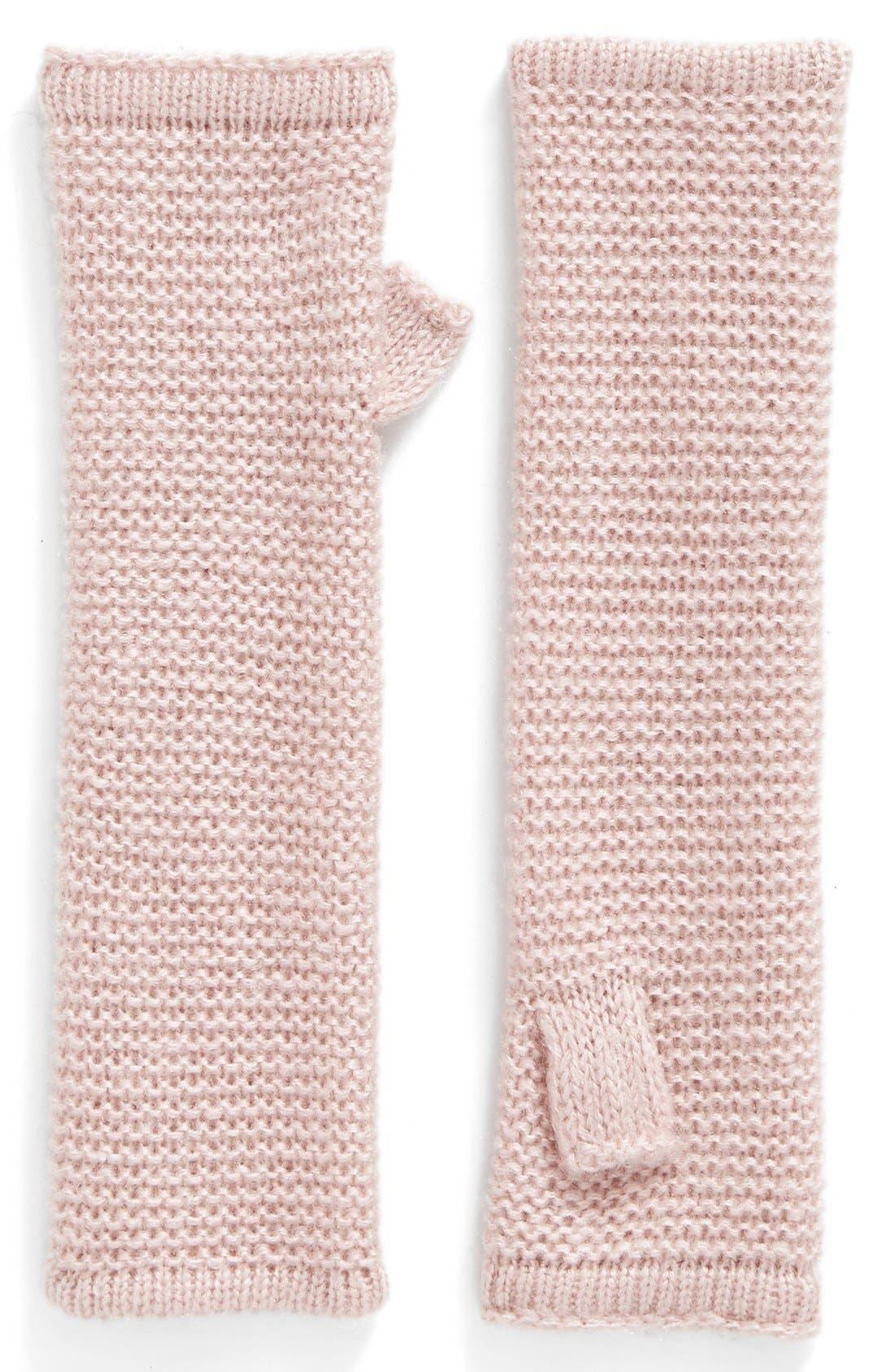Garter Stitch Fingerless Gloves,                             Main thumbnail 8, color,