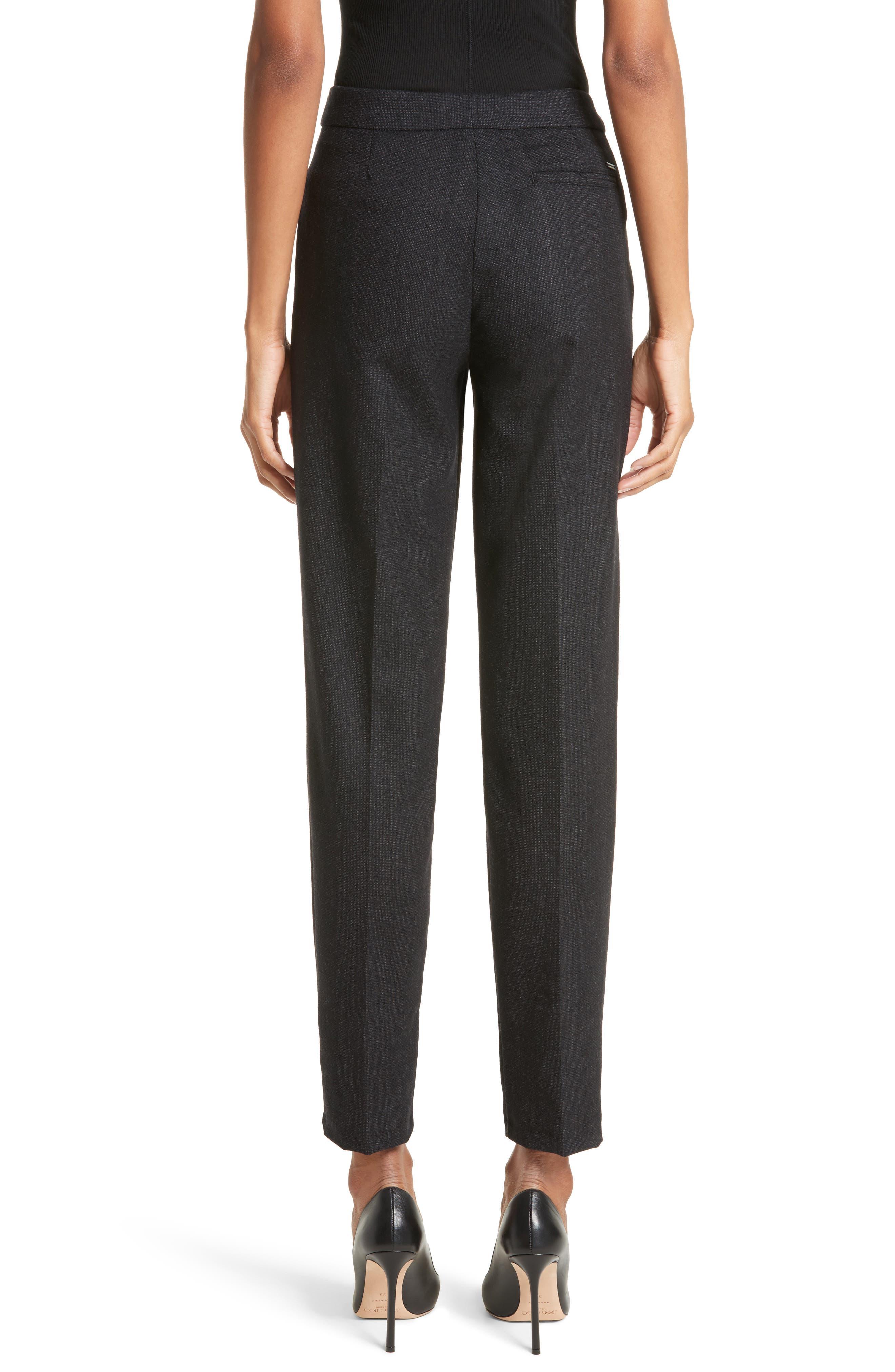 Armani Jeans Stretch Wool Slim Pants,                             Alternate thumbnail 2, color,                             001
