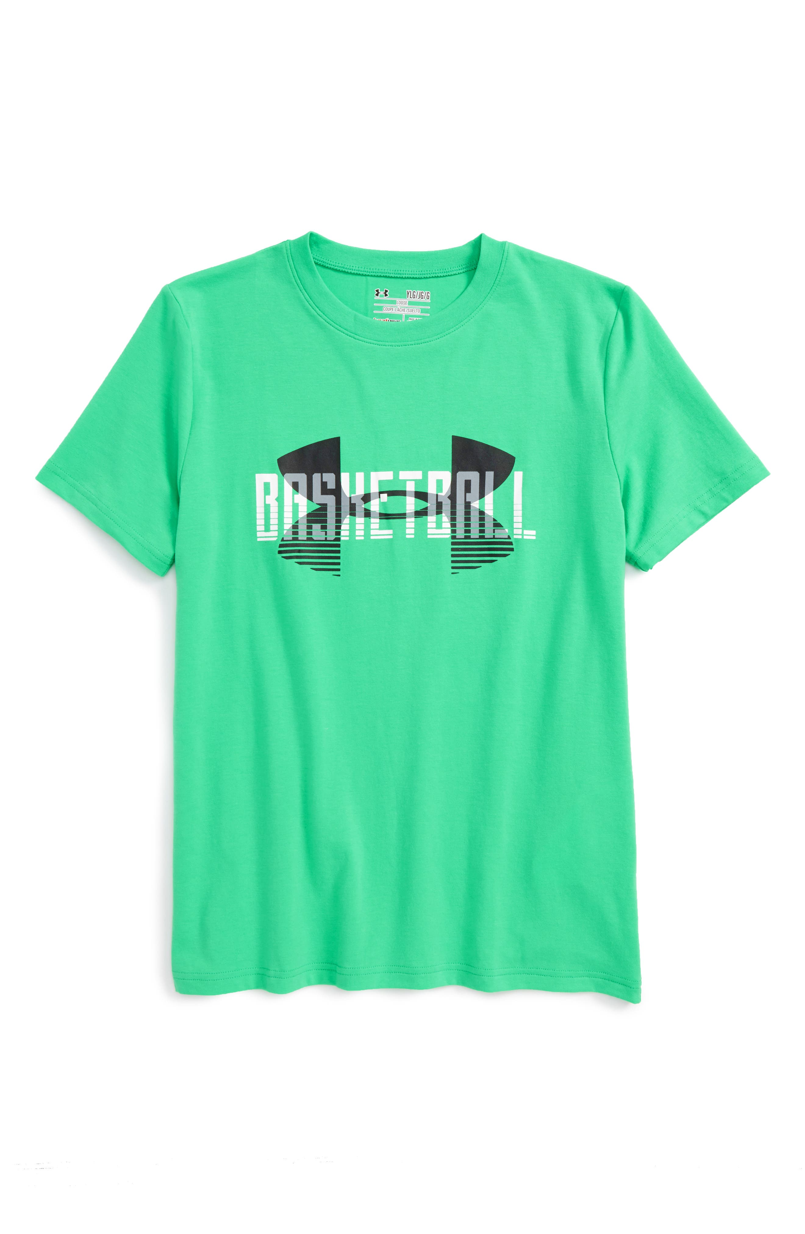 Under Armrour Branded Baller HeatGear<sup>®</sup> T-Shirt, Main, color, 399