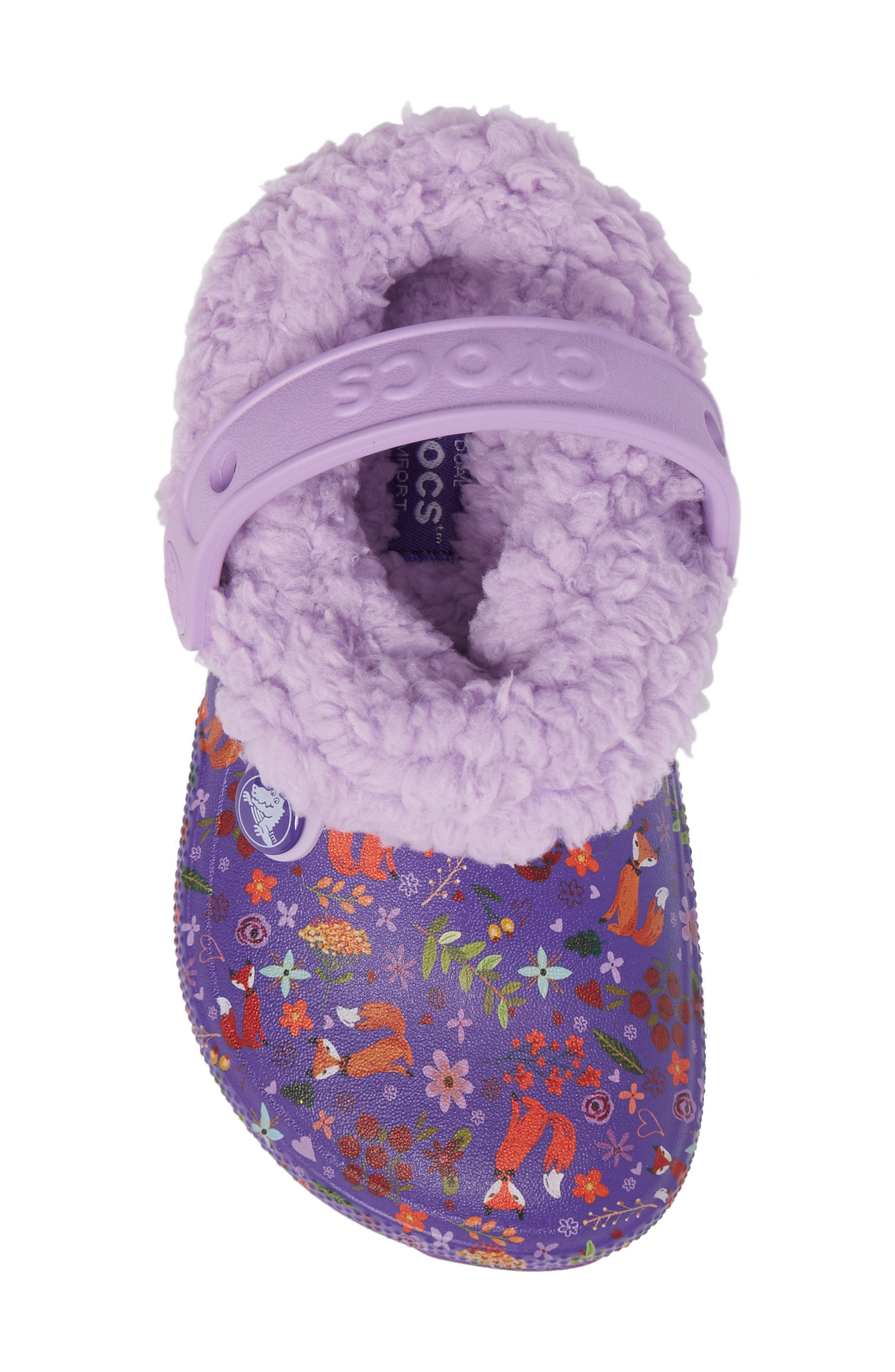 Classic Blitzen III Faux Fur Graphic Clog,                             Alternate thumbnail 5, color,                             538