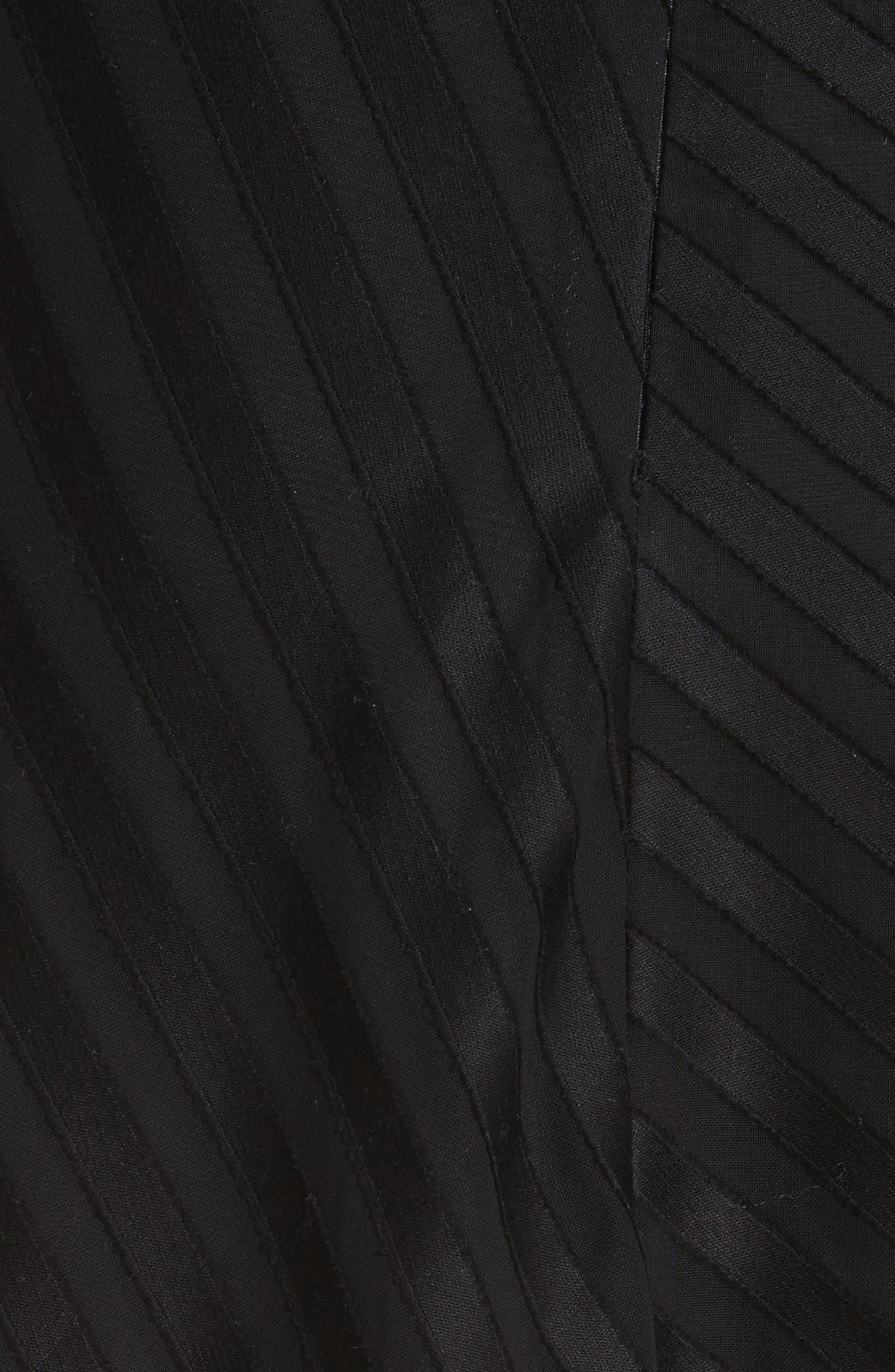 Diagonal Stripe Cotton Voile Midi Skirt,                             Alternate thumbnail 5, color,                             009