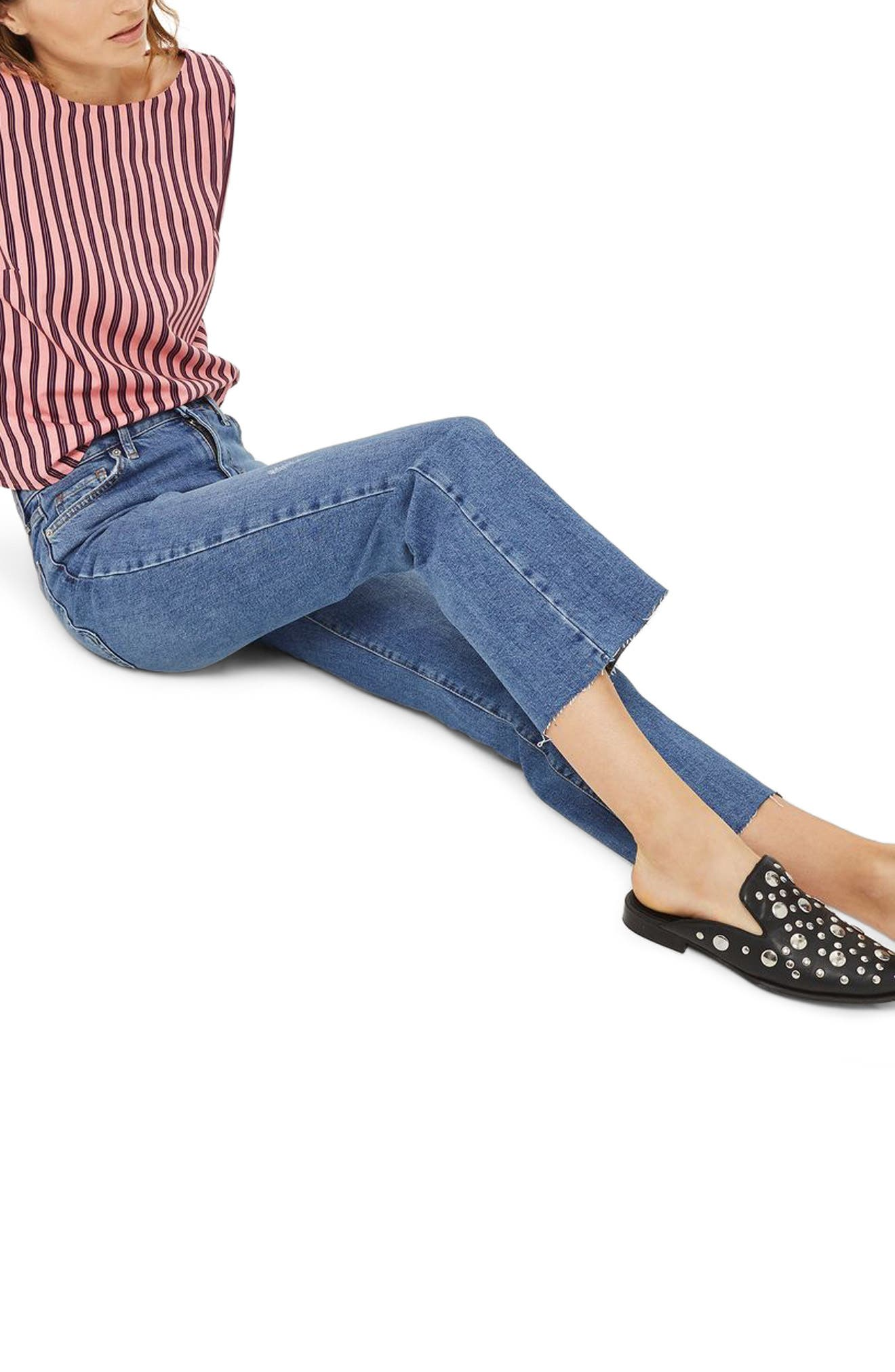 Dree Crop Flare Jeans,                             Alternate thumbnail 3, color,
