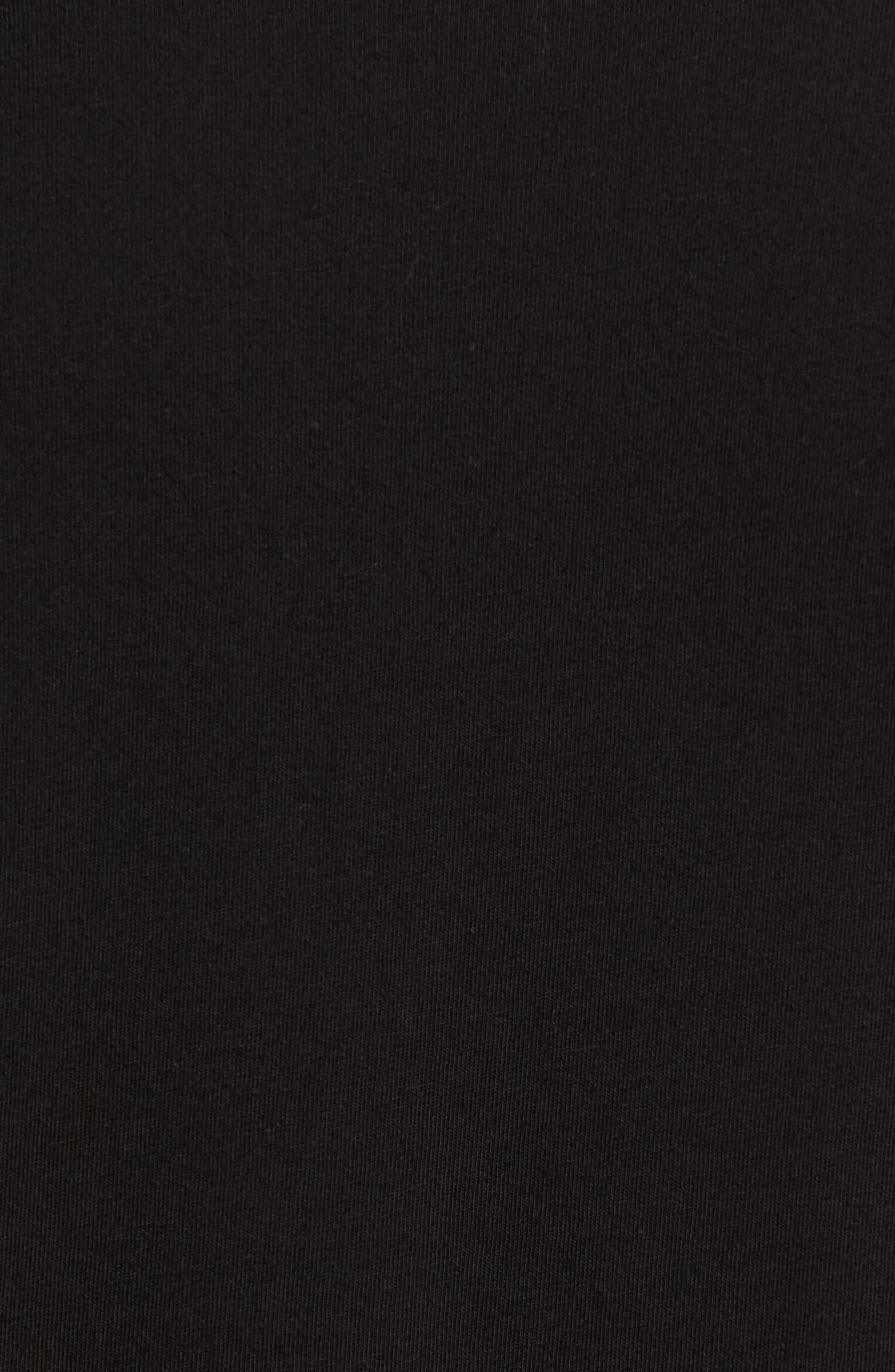 Classic Supima Cotton Blend V-Neck T-Shirt,                             Alternate thumbnail 5, color,                             BLACK