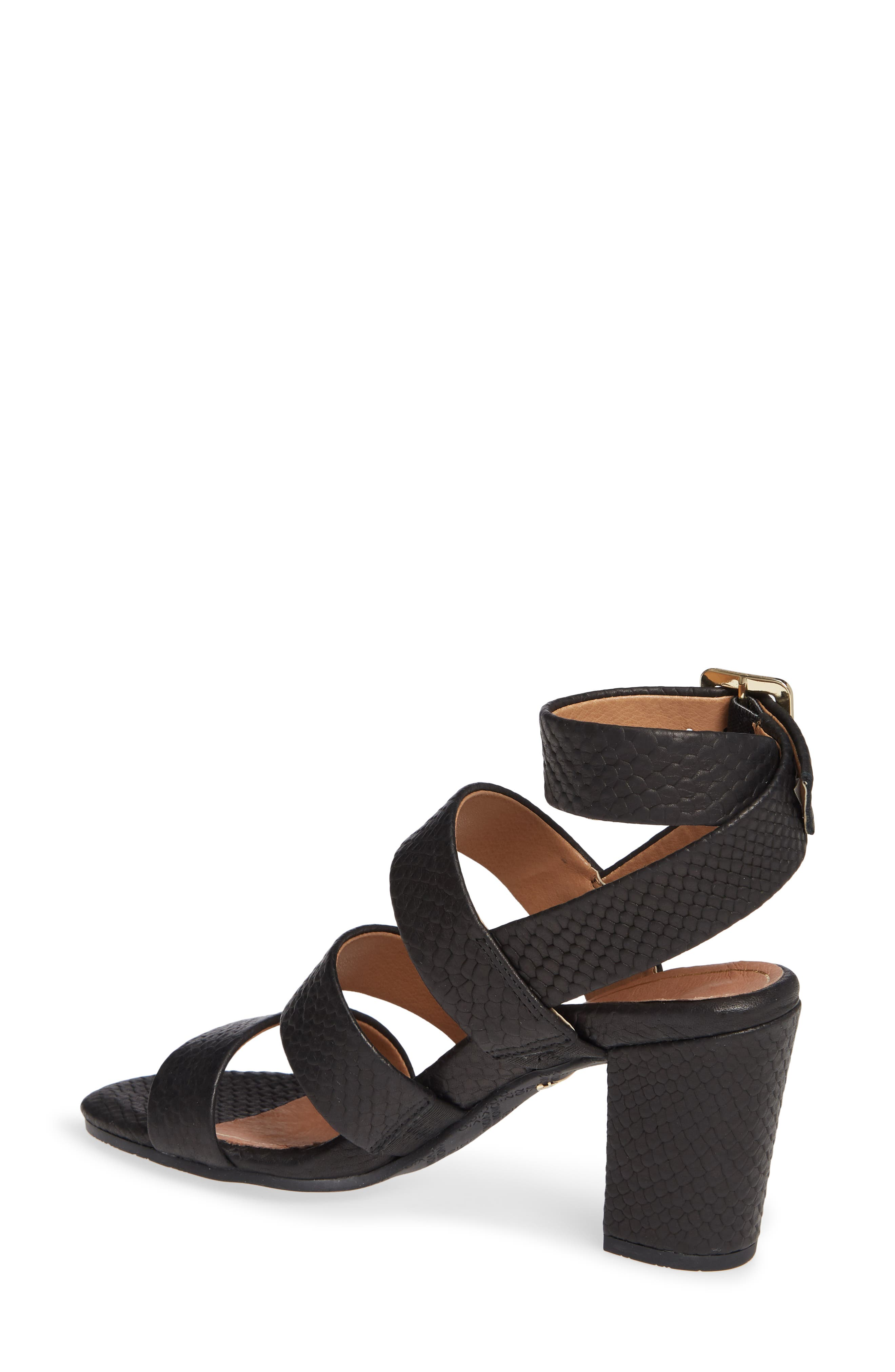 Blaire Block Heel Sandal,                             Alternate thumbnail 2, color,                             BLACK SNAKE EMBOSSED LEATHER