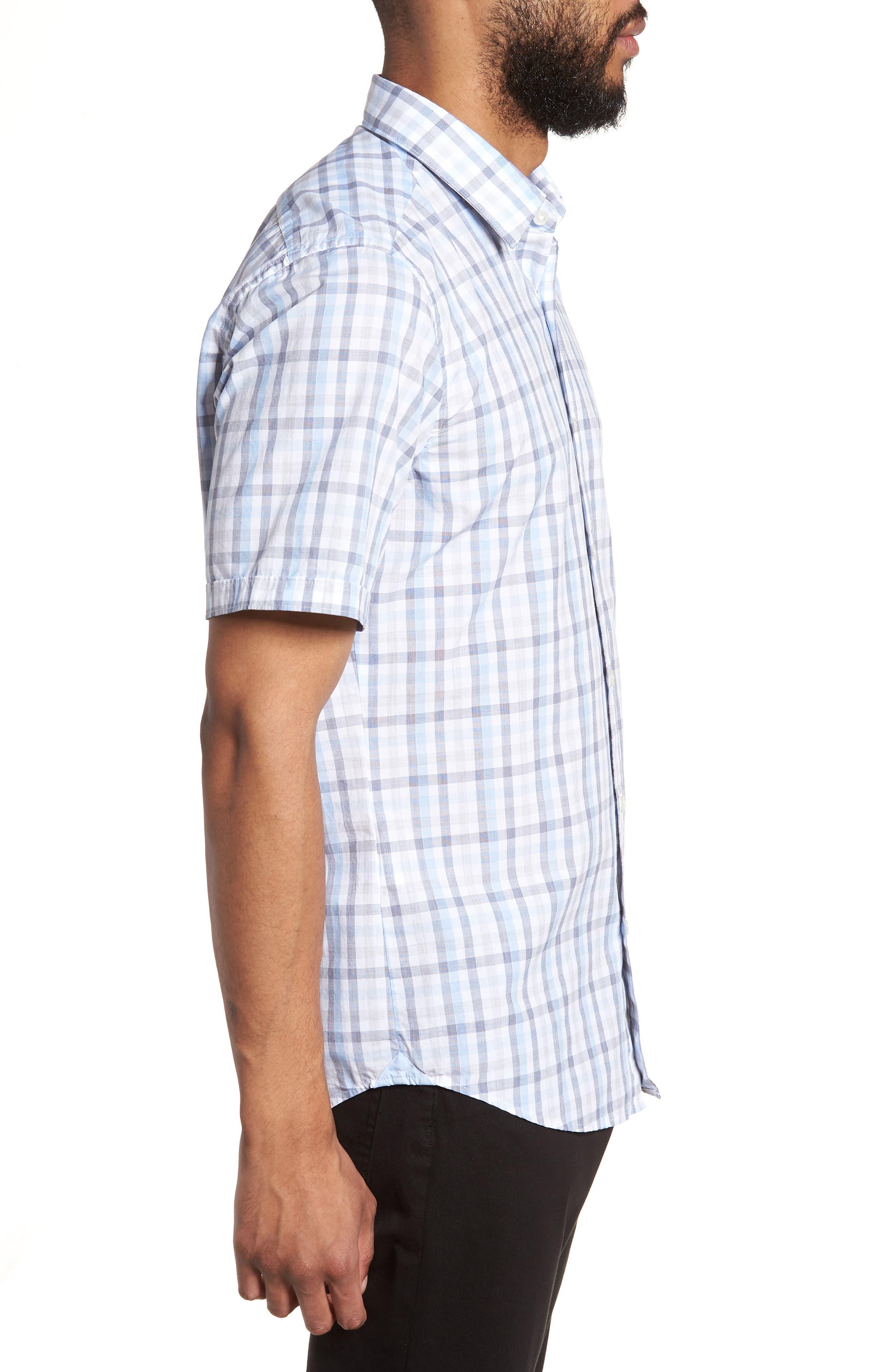 Luka Slim Fit Short Sleeve Sport Shirt,                             Alternate thumbnail 3, color,