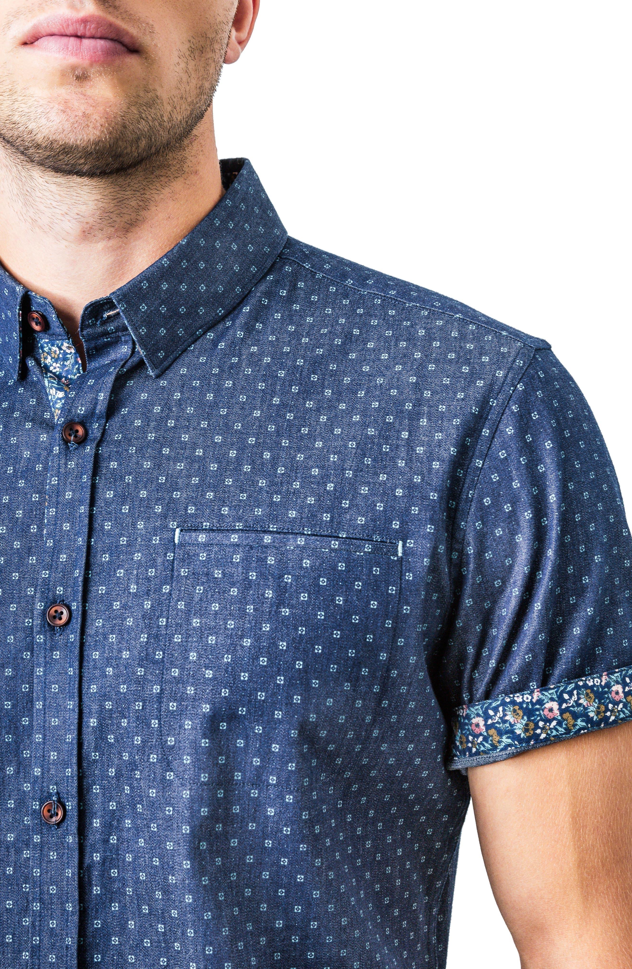 Innervision Woven Shirt,                             Alternate thumbnail 4, color,                             410
