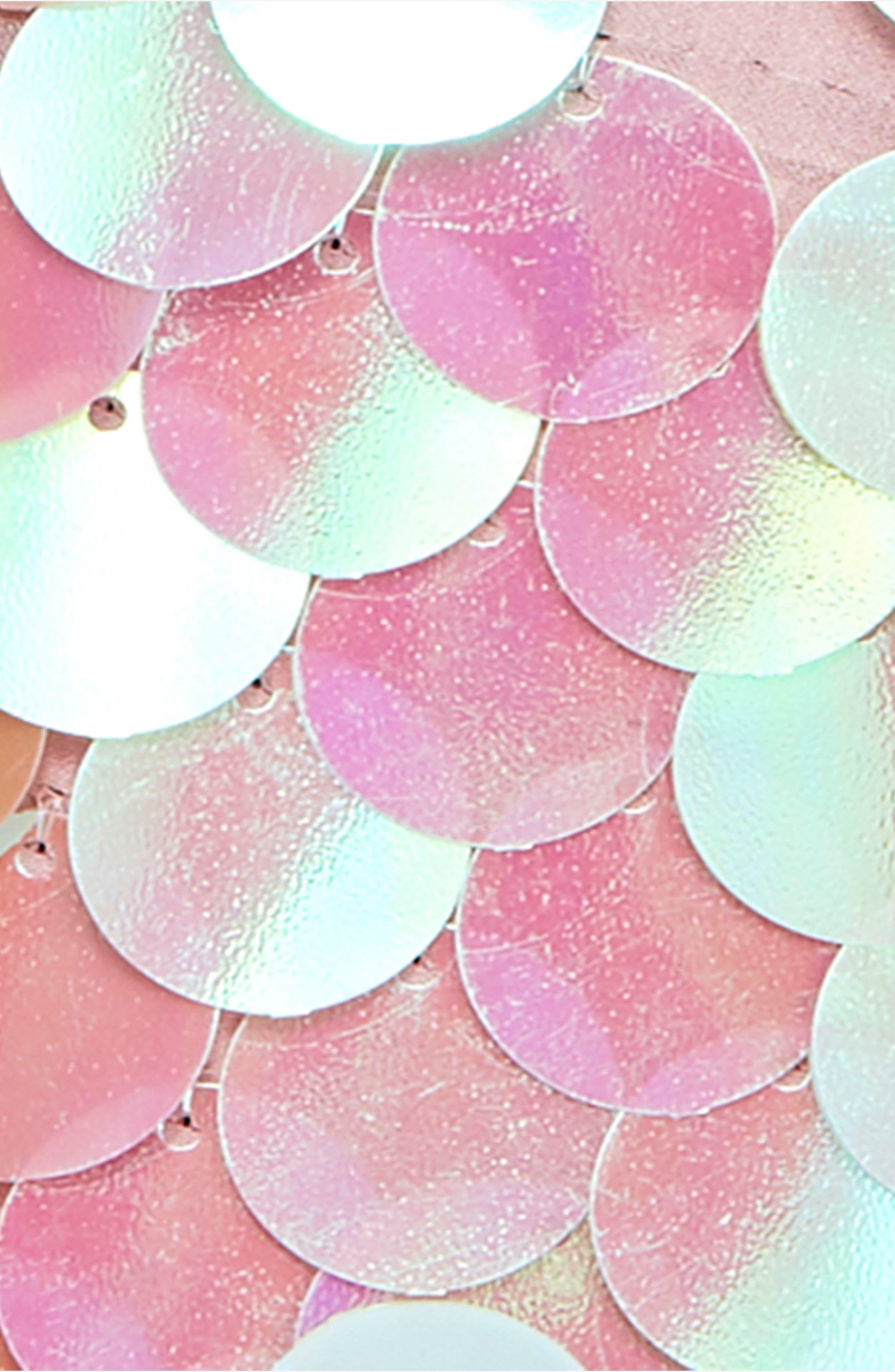 Penelope Glitter Disc Sequin Swing Dress,                             Alternate thumbnail 6, color,                             440
