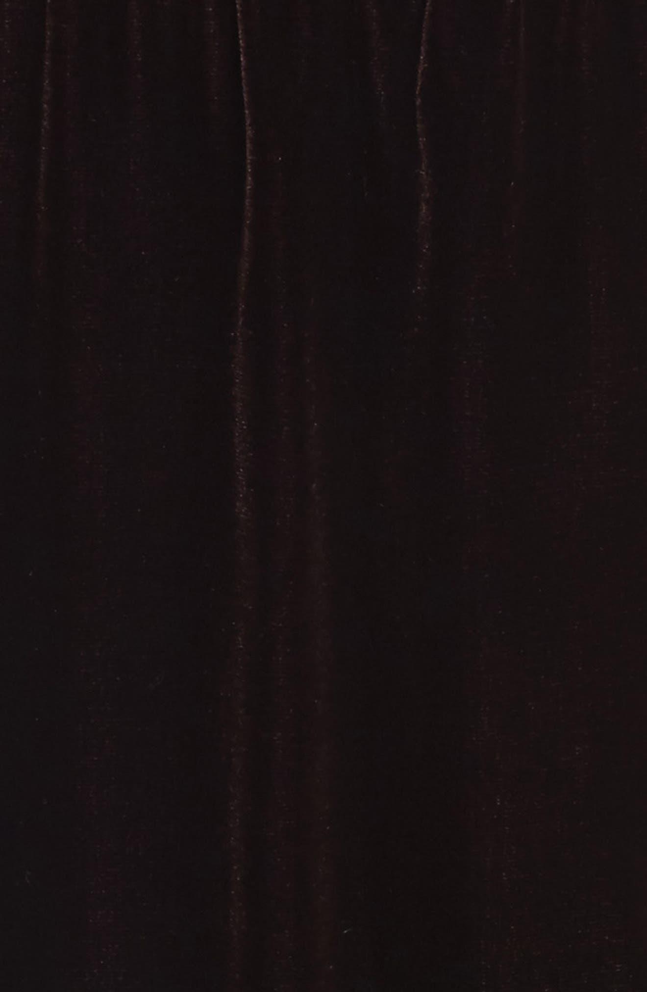 Ruched Detail Velvet Slipdress,                             Alternate thumbnail 5, color,                             501