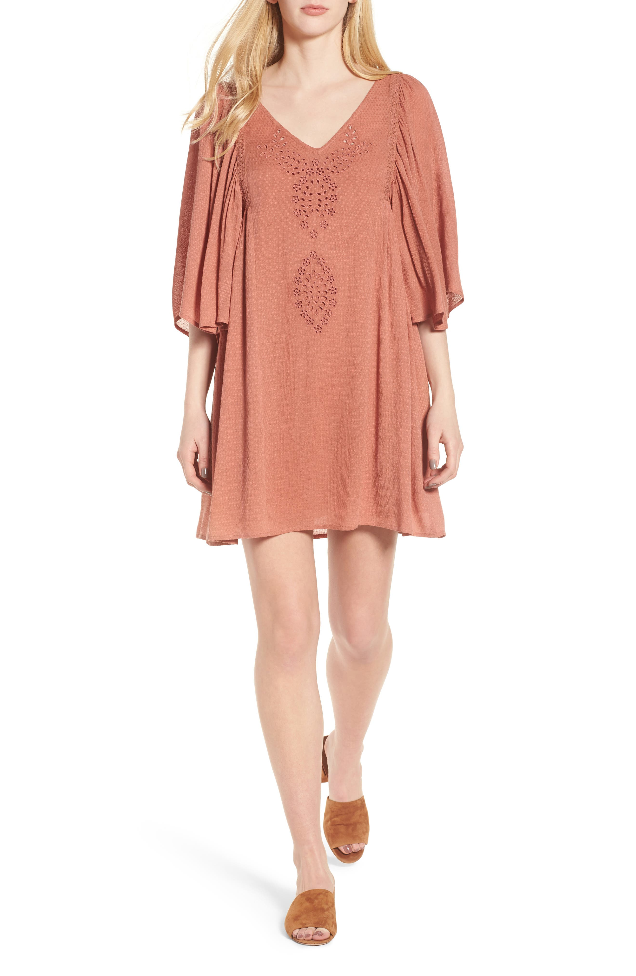 Embroidered Dress,                             Main thumbnail 3, color,