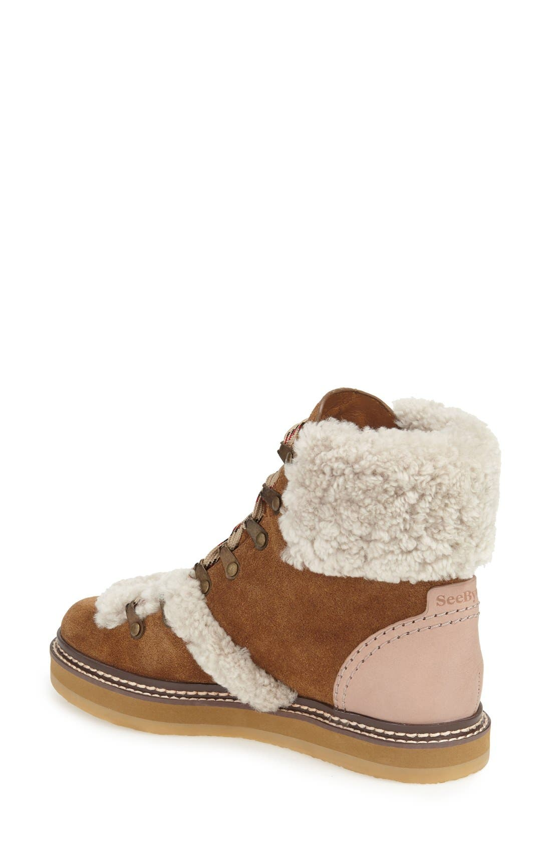 'Eileen' Genuine Shearling Boot,                             Alternate thumbnail 9, color,