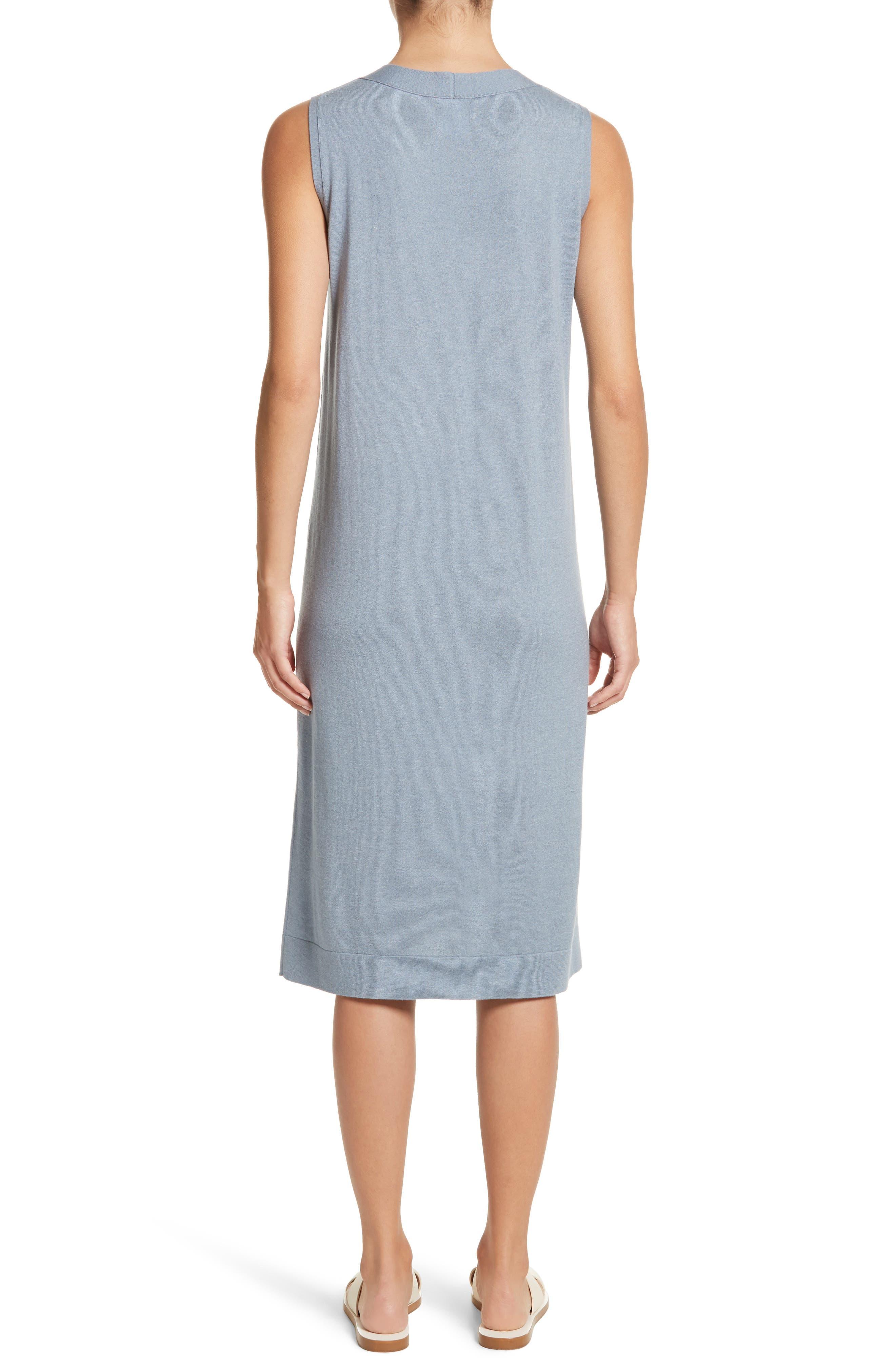 V-Neck Cashmere & Silk Knit Dress,                             Alternate thumbnail 2, color,                             411