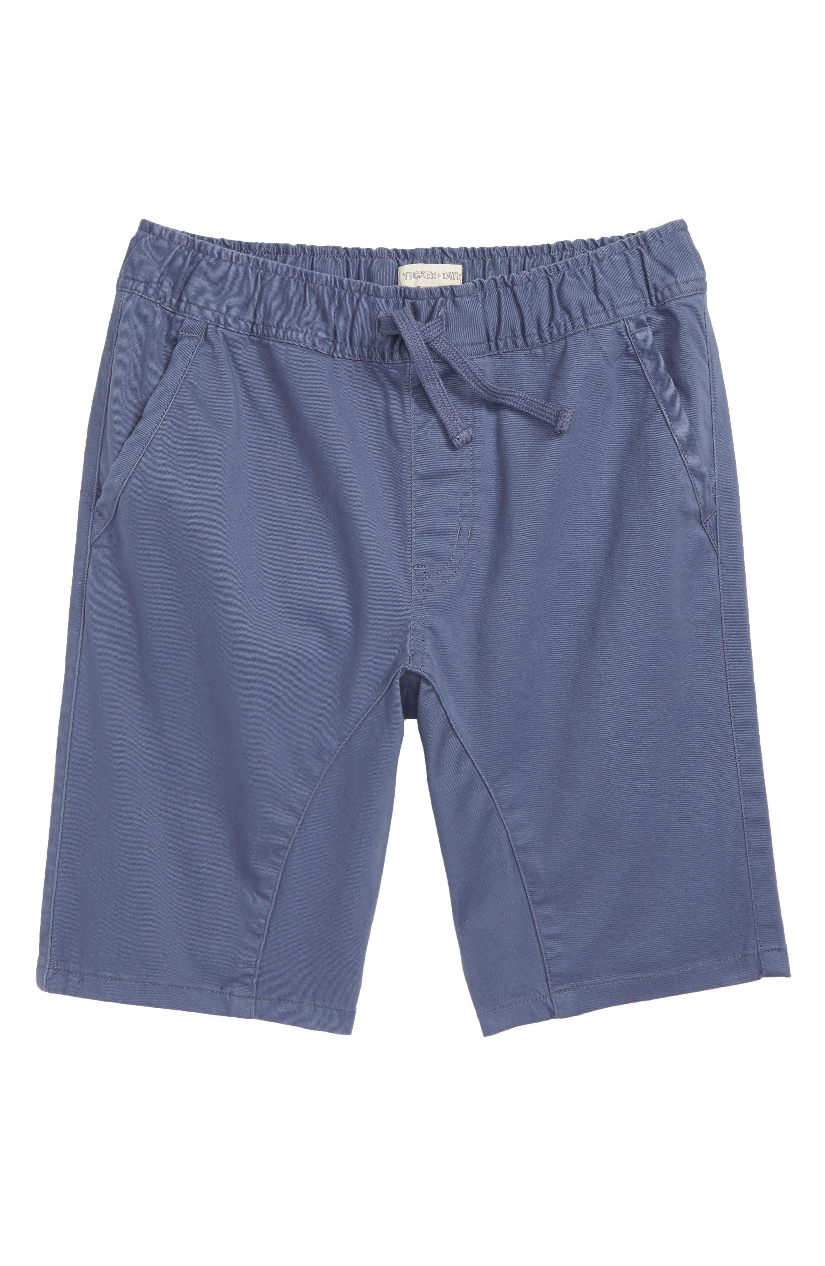 Knit Shorts,                         Main,                         color, BLUE VINTAGE