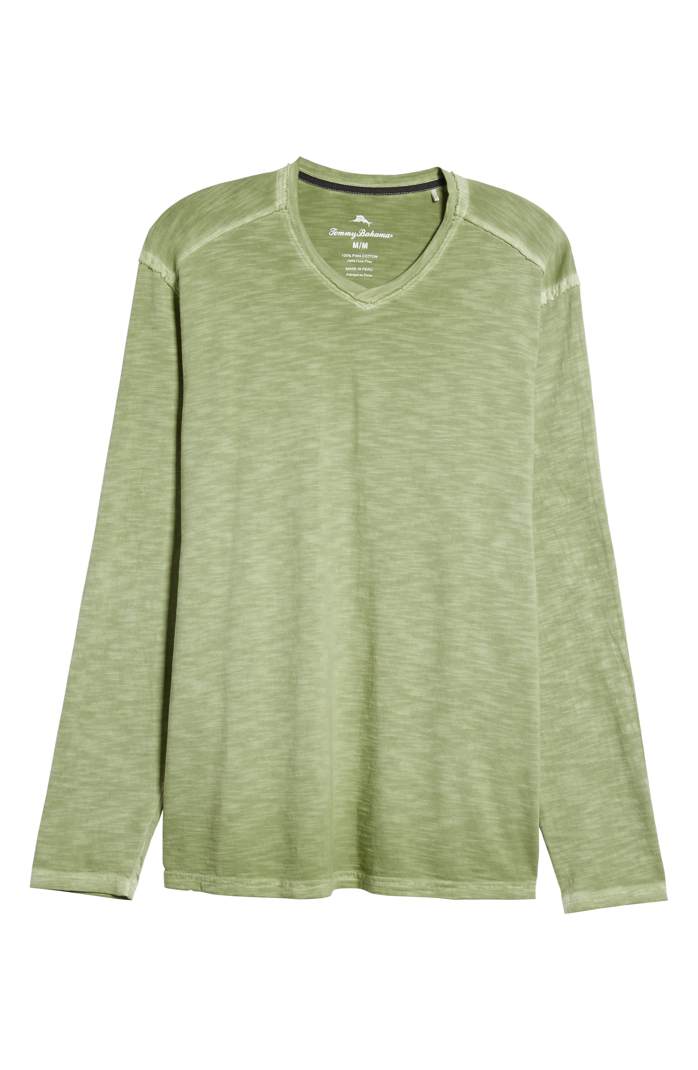 Suncoast Shores Long Sleeve V-Neck T-Shirt,                             Alternate thumbnail 6, color,                             WILD CLOVER