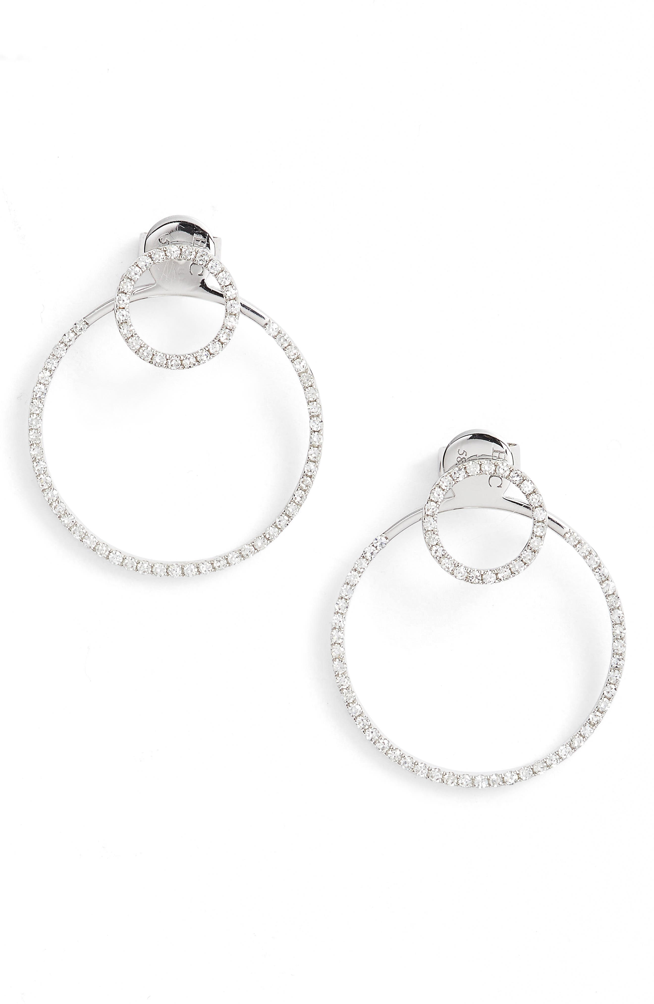 Diamond Halo Ear Jackets,                         Main,                         color, 711